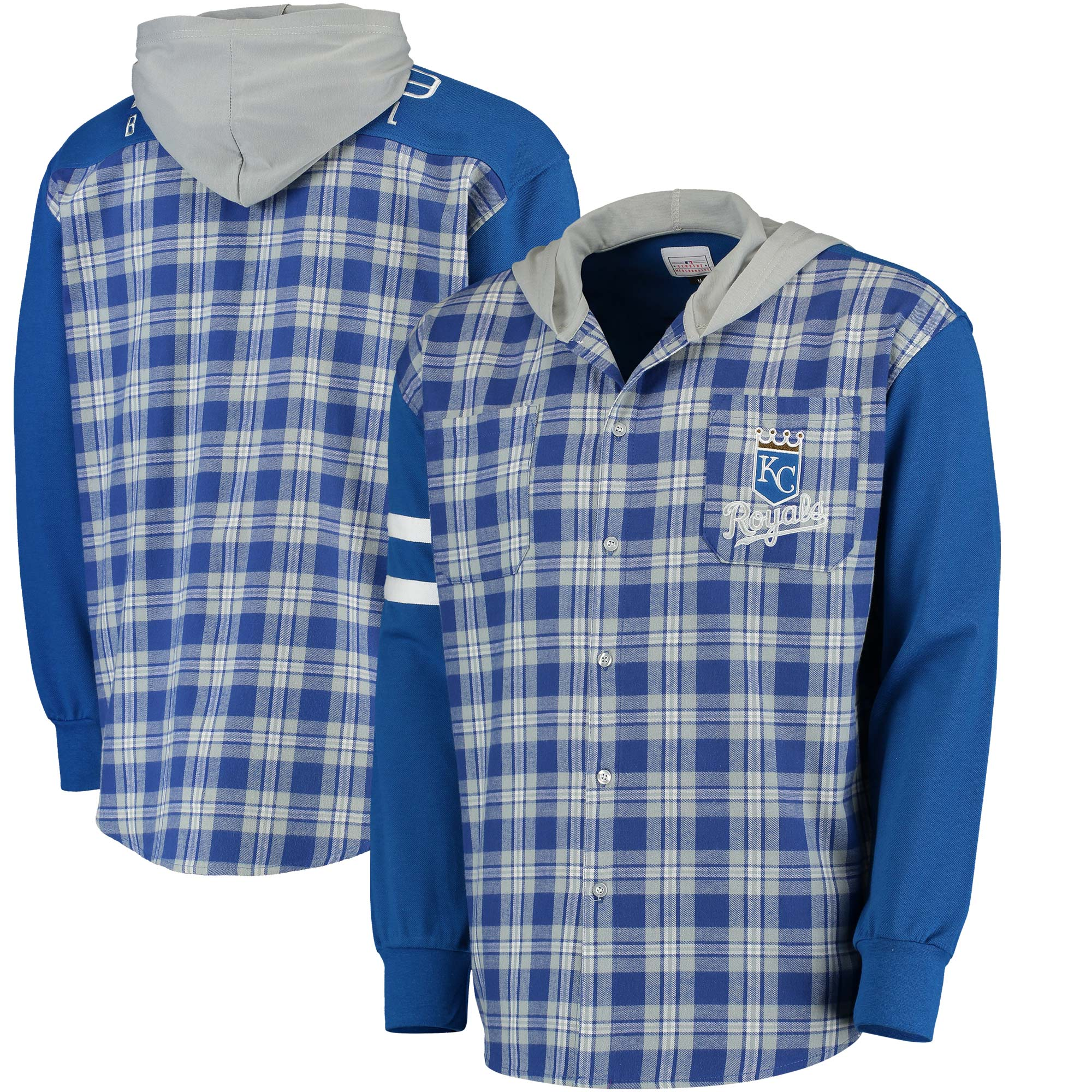 Kansas City Royals Flannel Hooded Jacket - Royal