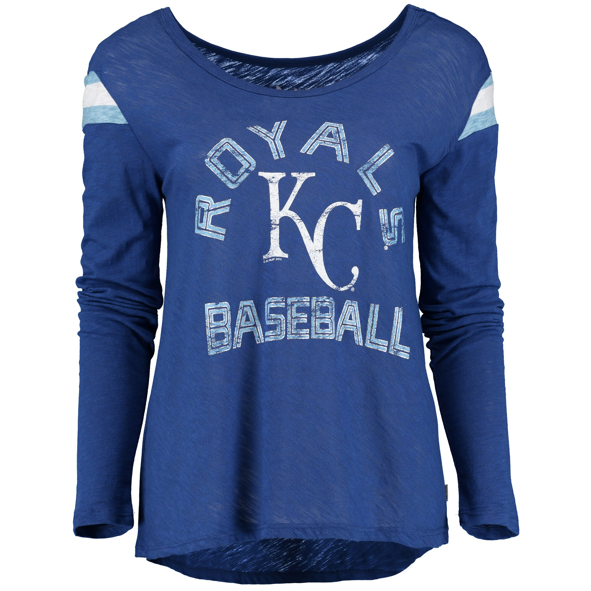 Kansas City Royals Touch by Alyssa Milano Women's Cascade Long Sleeve T-Shirt - Royal