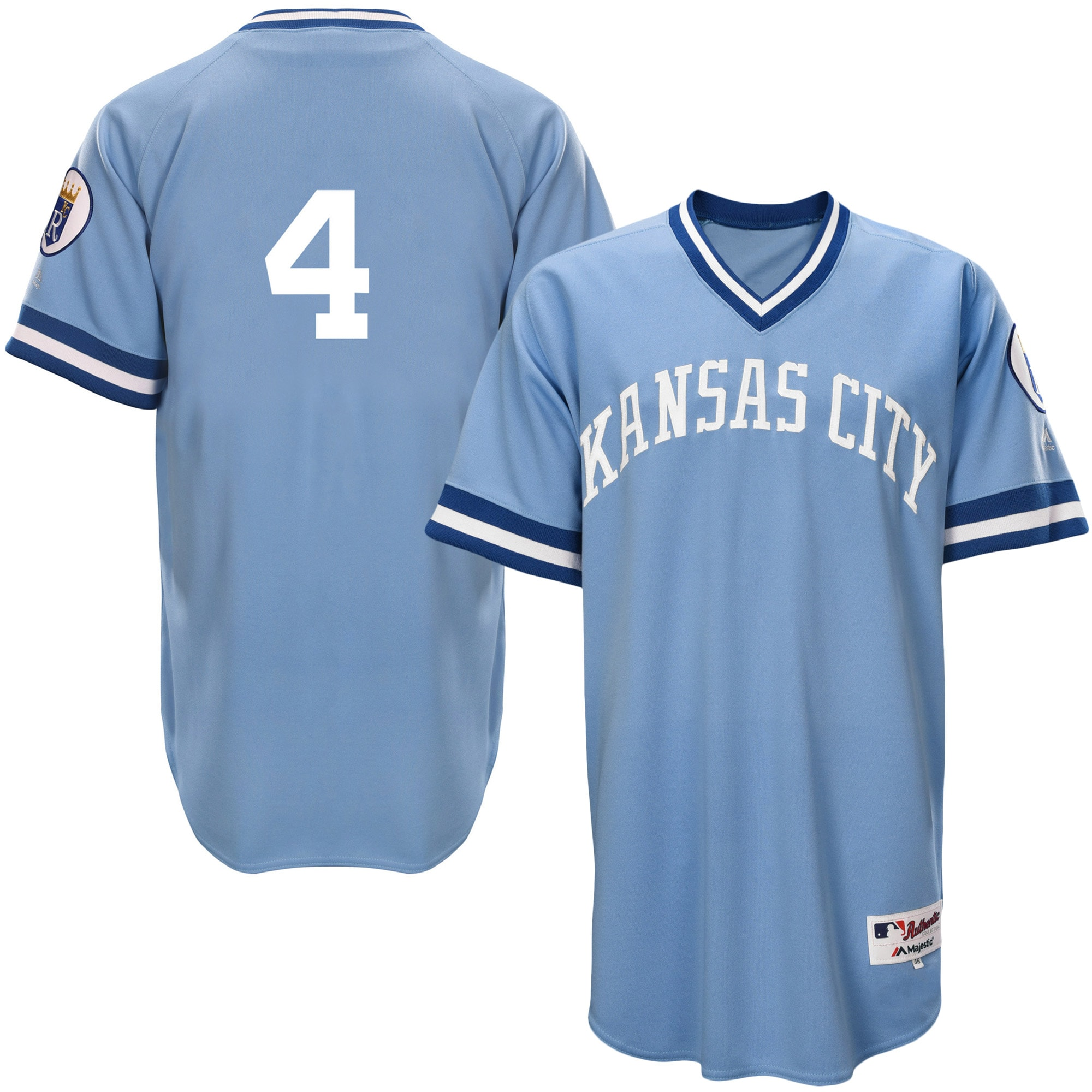 Alex Gordon Kansas City Royals Majestic Authentic 1976 Turn Back the Clock Player Jersey - Light Blue