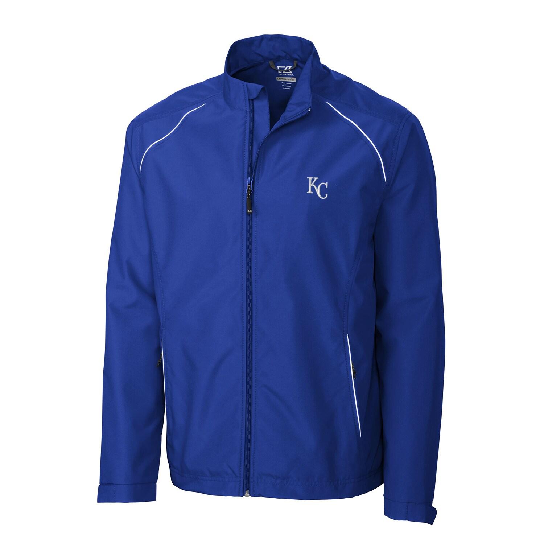 Kansas City Royals Cutter & Buck Beacon WeatherTec Full-Zip Jacket - Royal