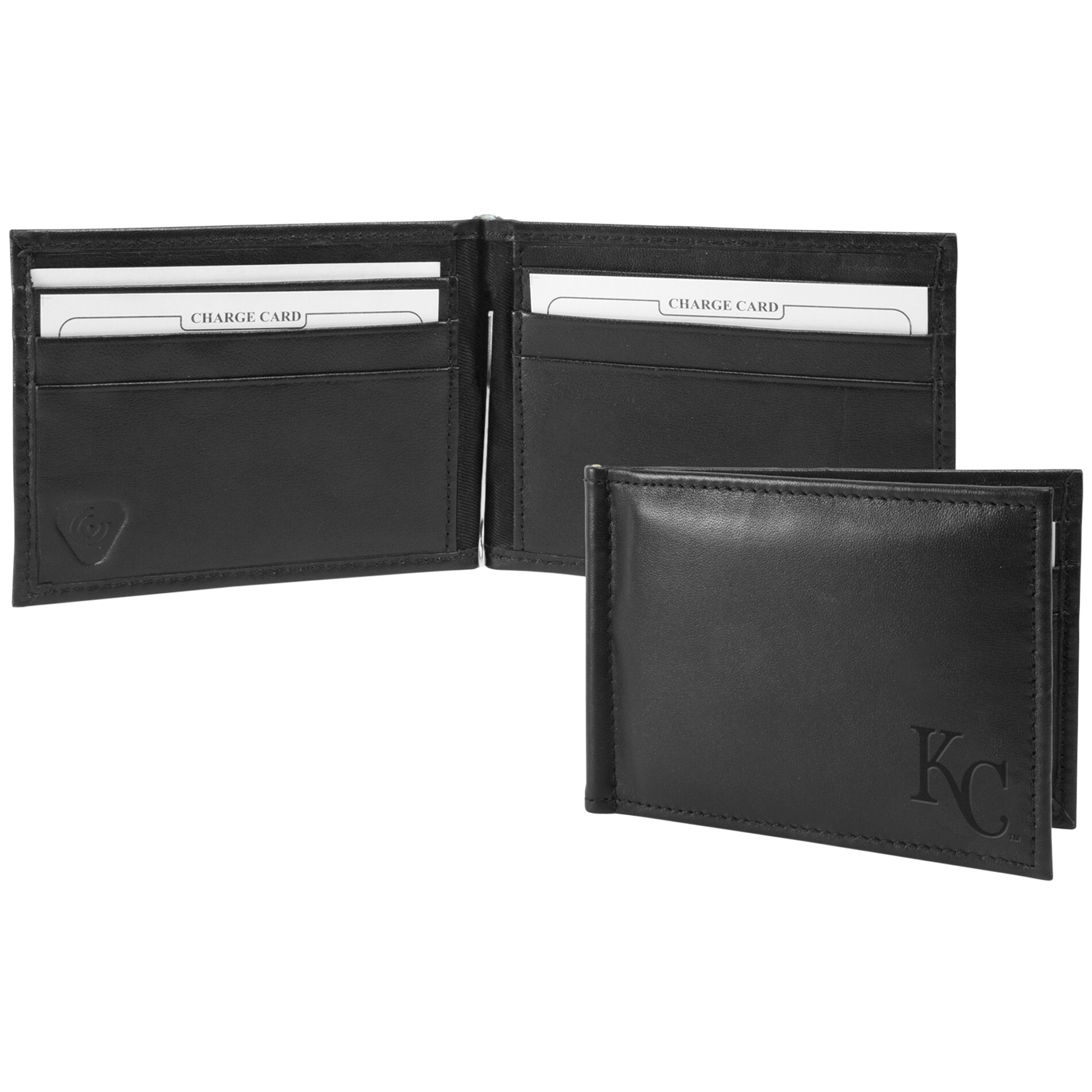 Kansas City Royals Shield Money Clip & Wallet - Black