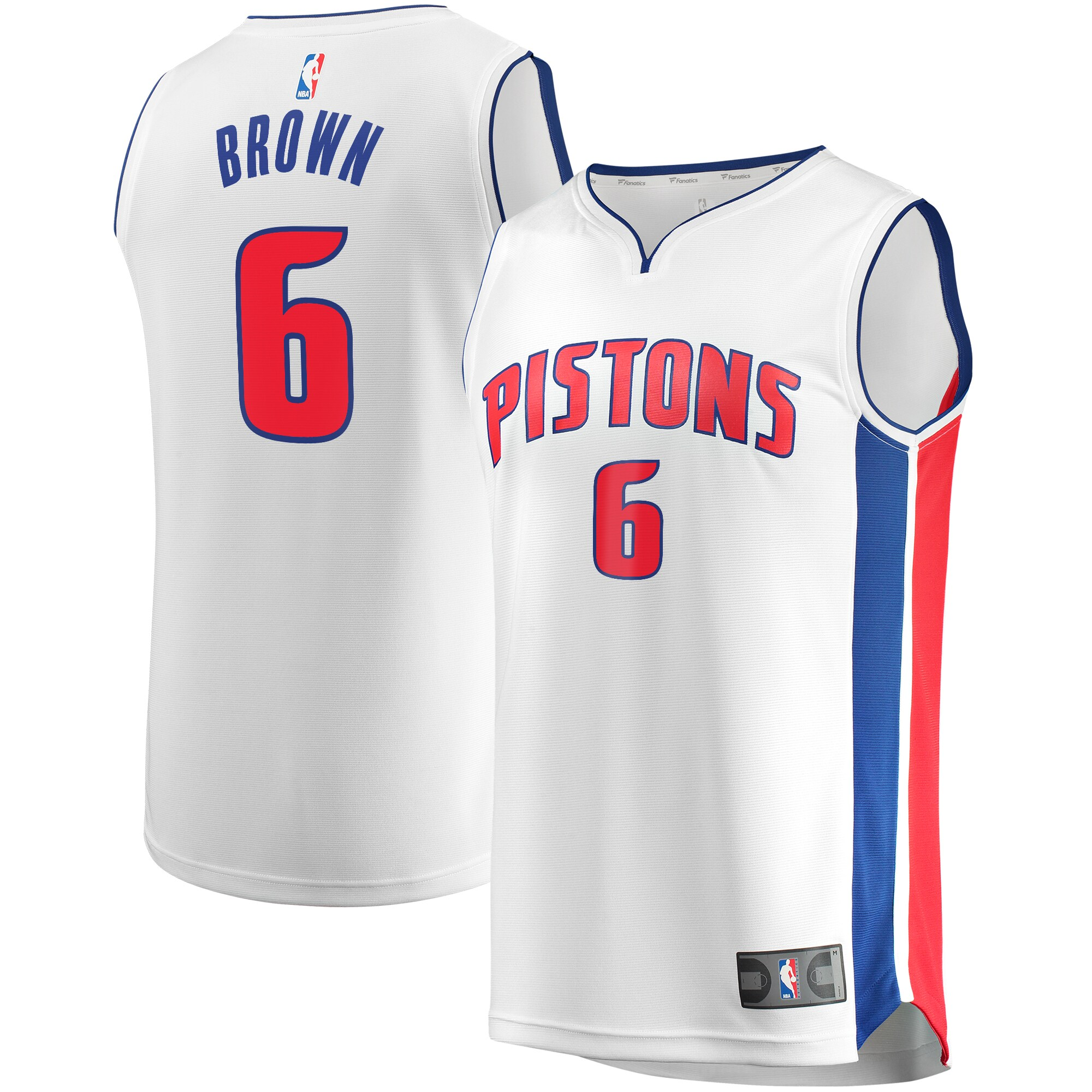 Bruce Brown Detroit Pistons Fanatics Branded Youth Fast Break Replica Player Jersey - Association Edition - White