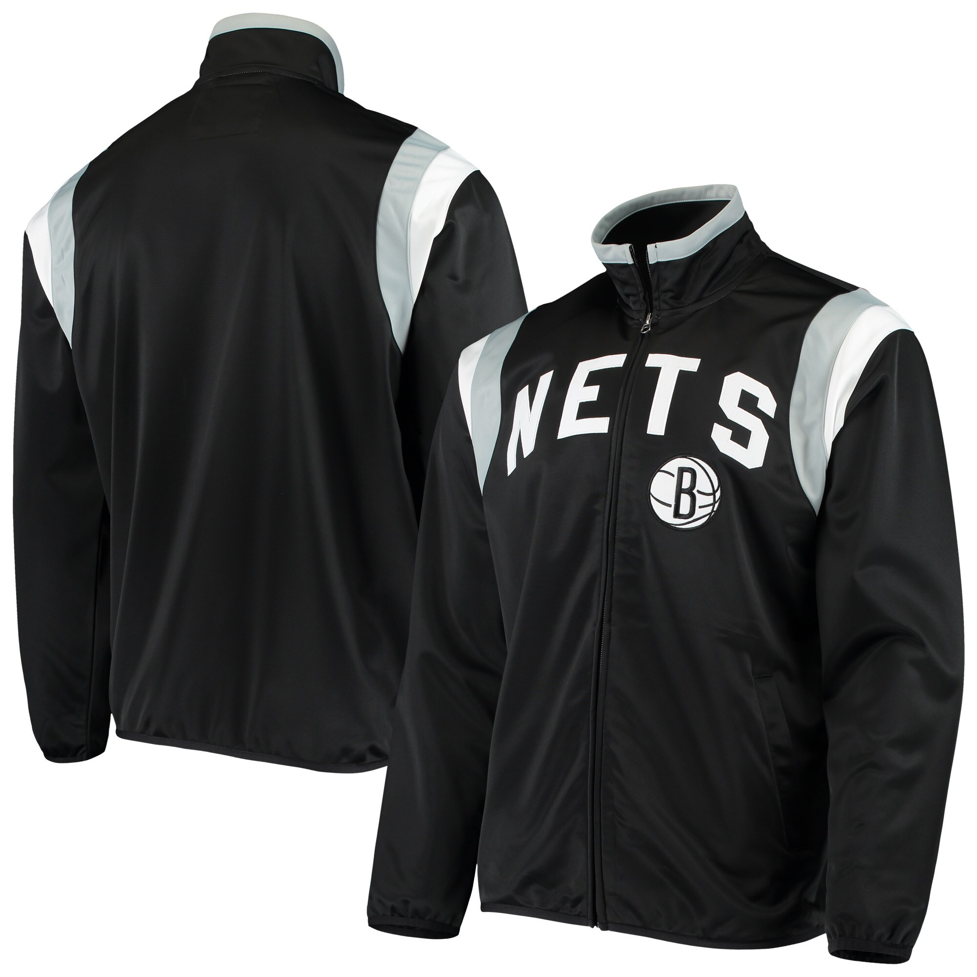 Brooklyn Nets G-III Sports by Carl Banks Post Up Tricot Full-Zip Track Jacket - Black
