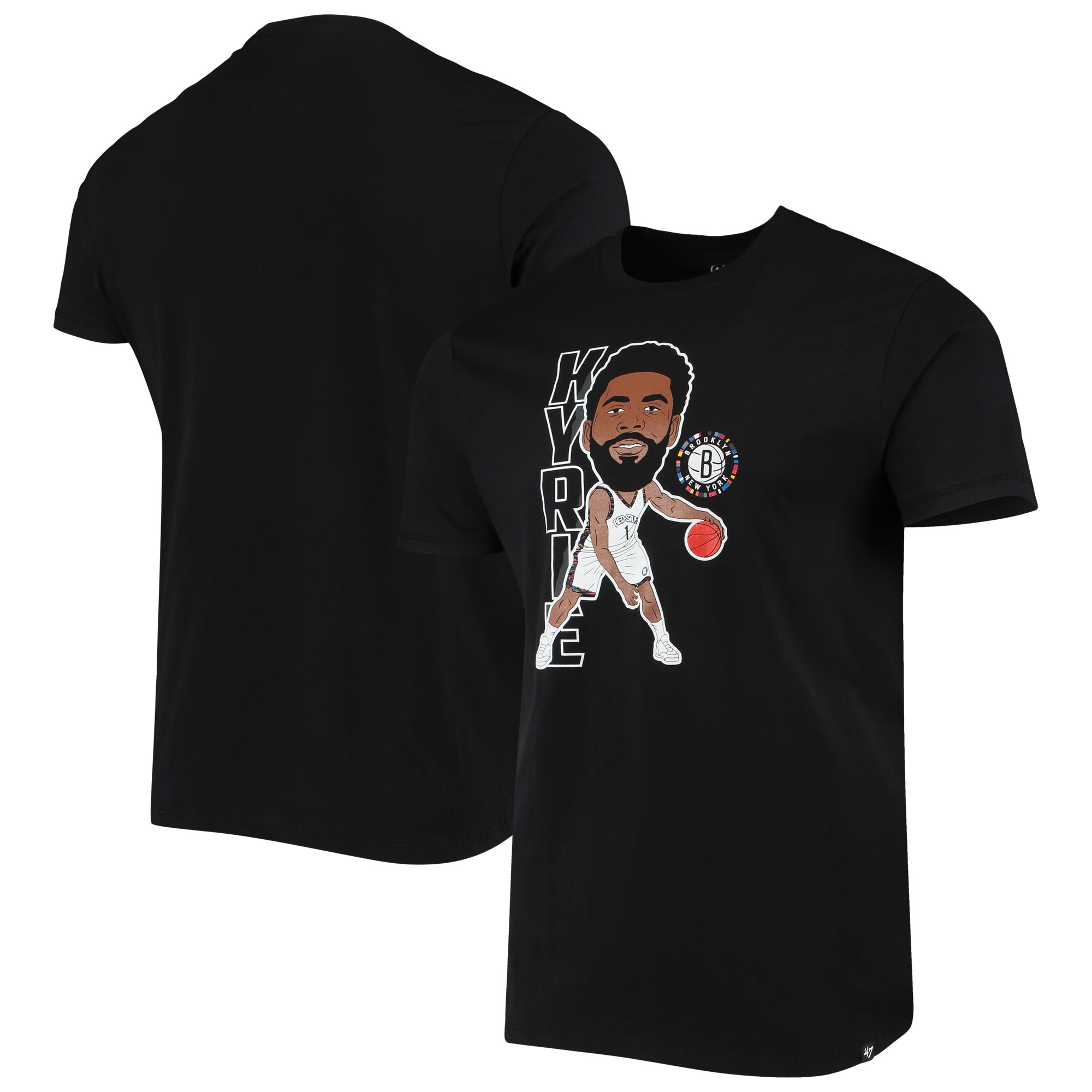 Kyrie Irving Brooklyn Nets '47 Bobblehead Player T-Shirt - Black