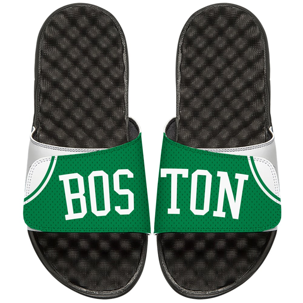 Boston Celtics ISlide NBA Hardwood Classics Jersey Slide Sandals - Green/Black