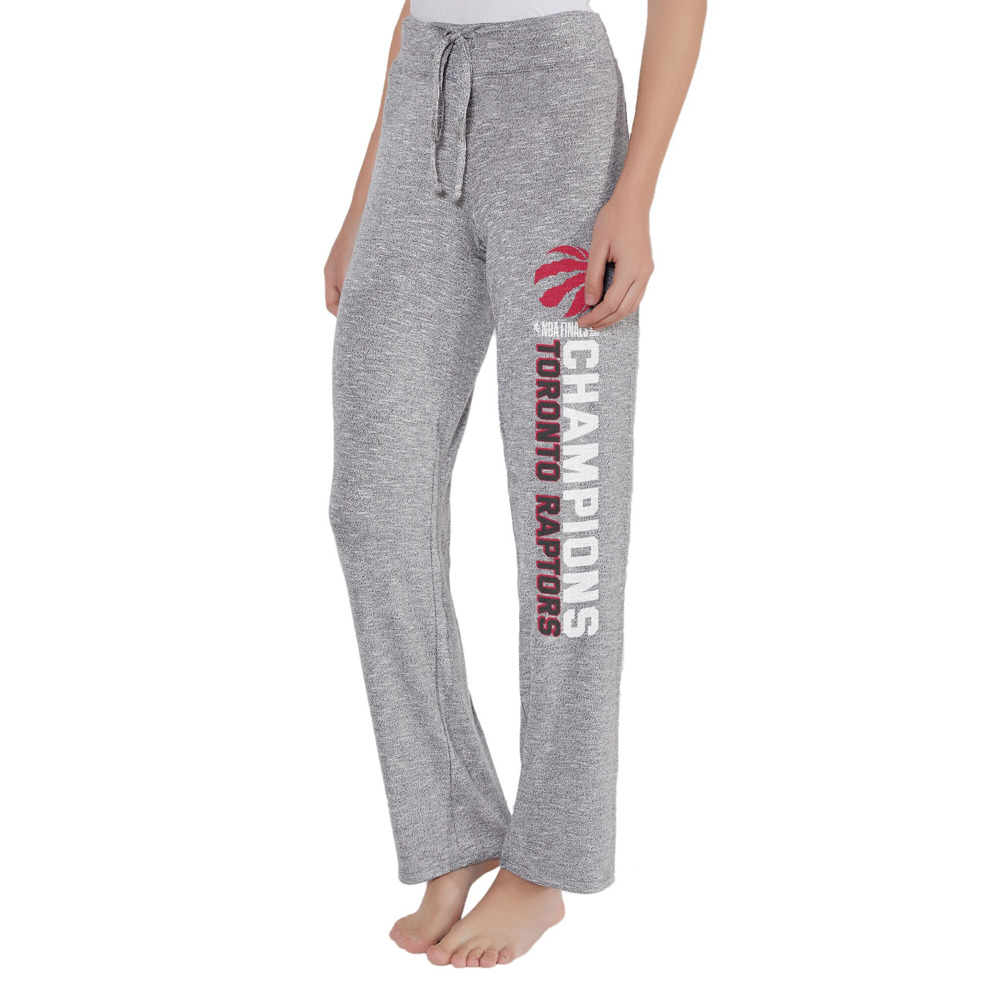 Toronto Raptors Concepts Sport Women's 2019 NBA Finals Champions Layover Knit Pants - Gray