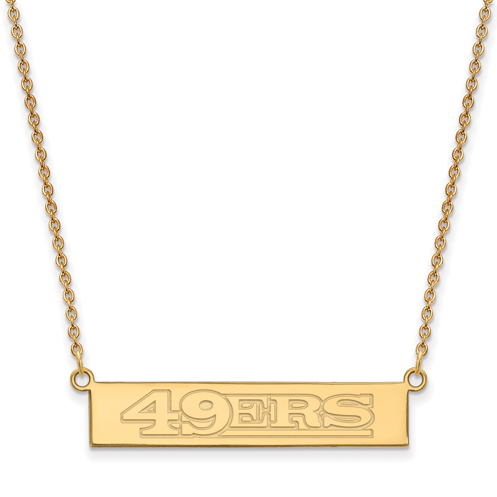 San Francisco 49ers Gold-Plated Bar Necklace