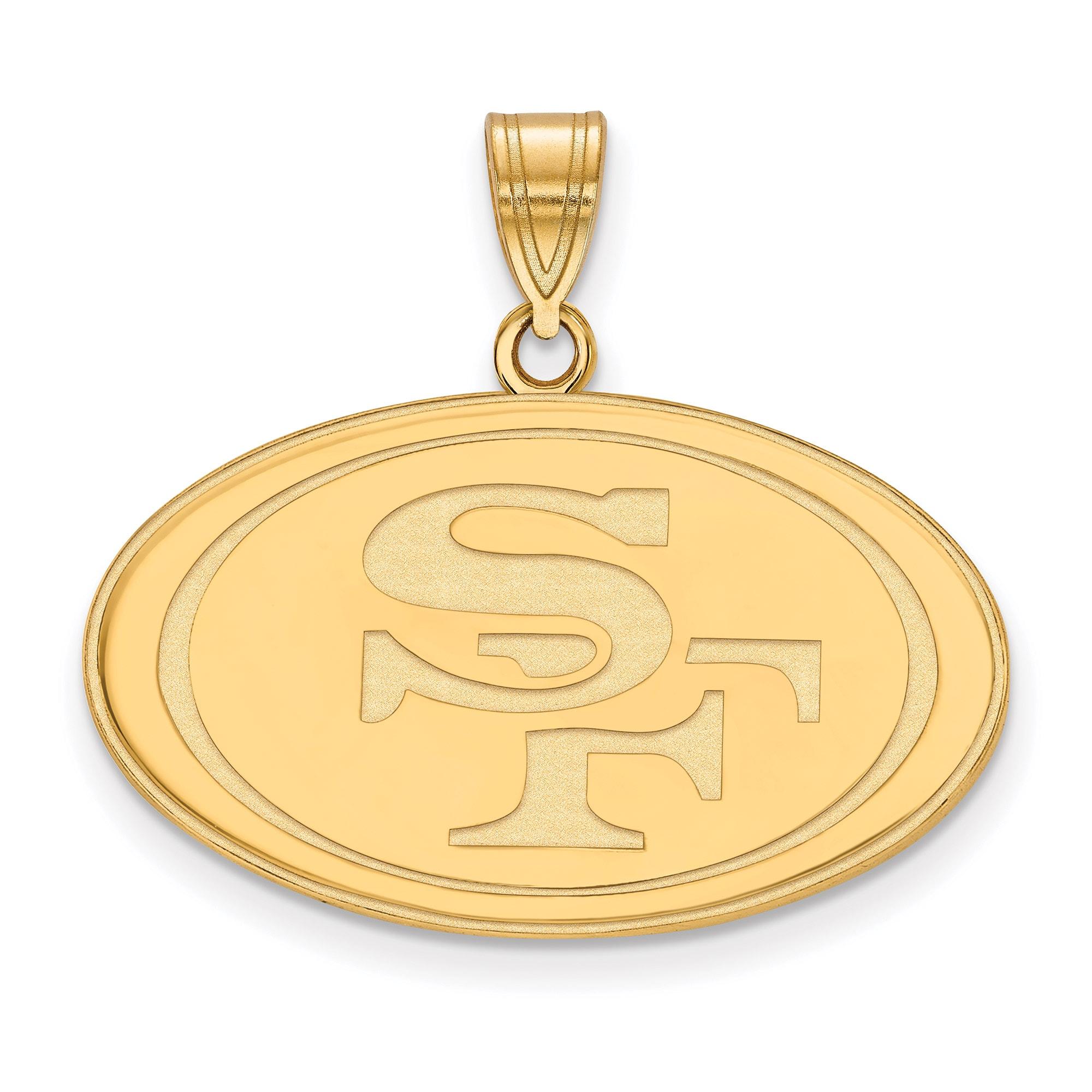 San Francisco 49ers Gold-Plated Large Logo Pendant