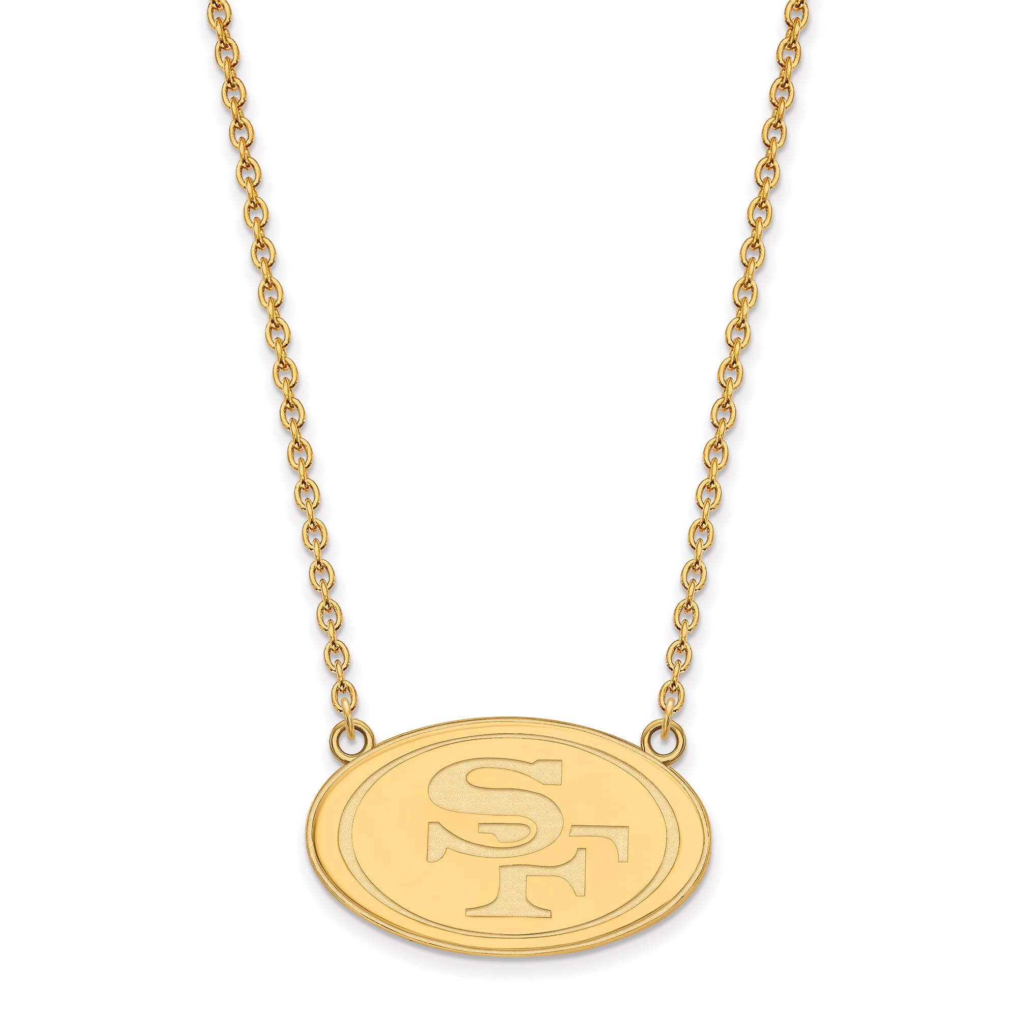 San Francisco 49ers Gold-Plated Large Logo Split Chain Necklace