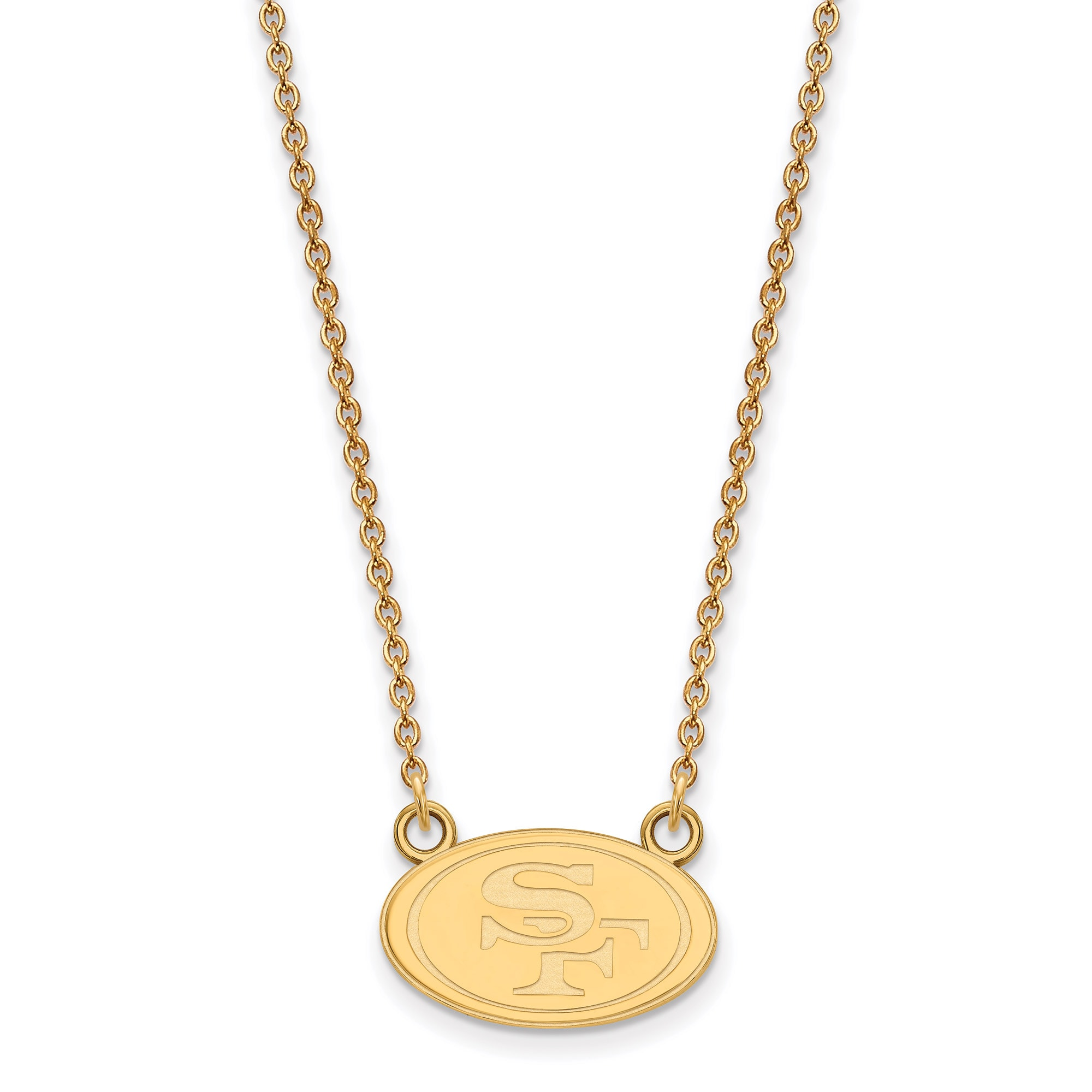 San Francisco 49ers Gold-Plated Small Logo Split Chain Necklace