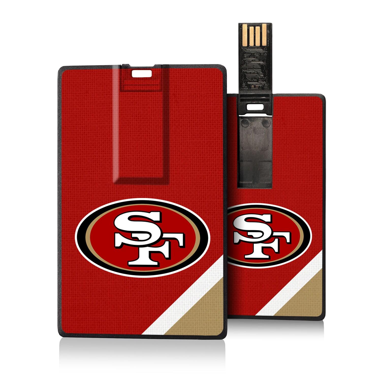 San Francisco 49ers Diagonal Stripe Credit Card USB Drive