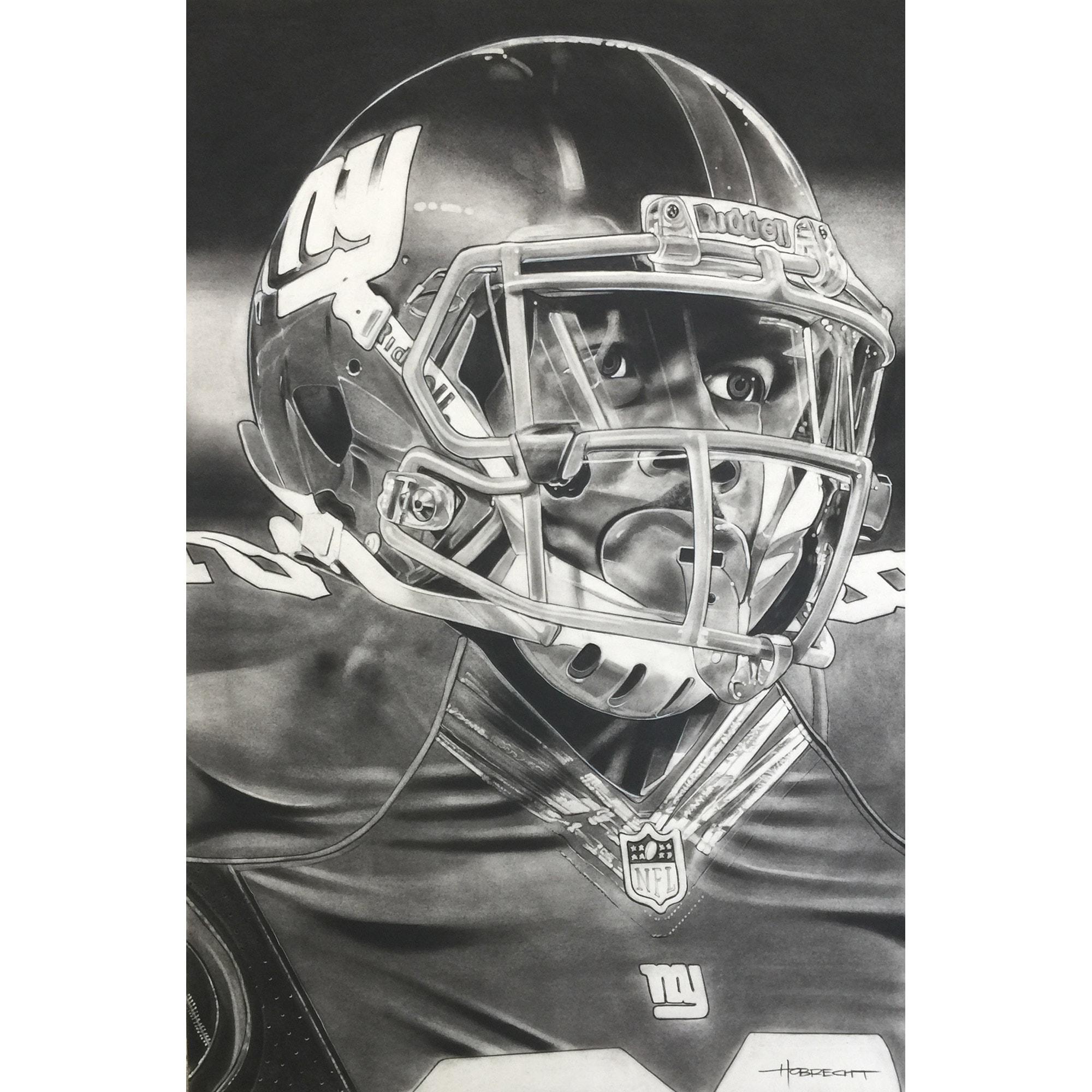 "New York Giants Deacon Jones Foundation 20"" x 30"" Helmet Series Fine Art Giclée Print"