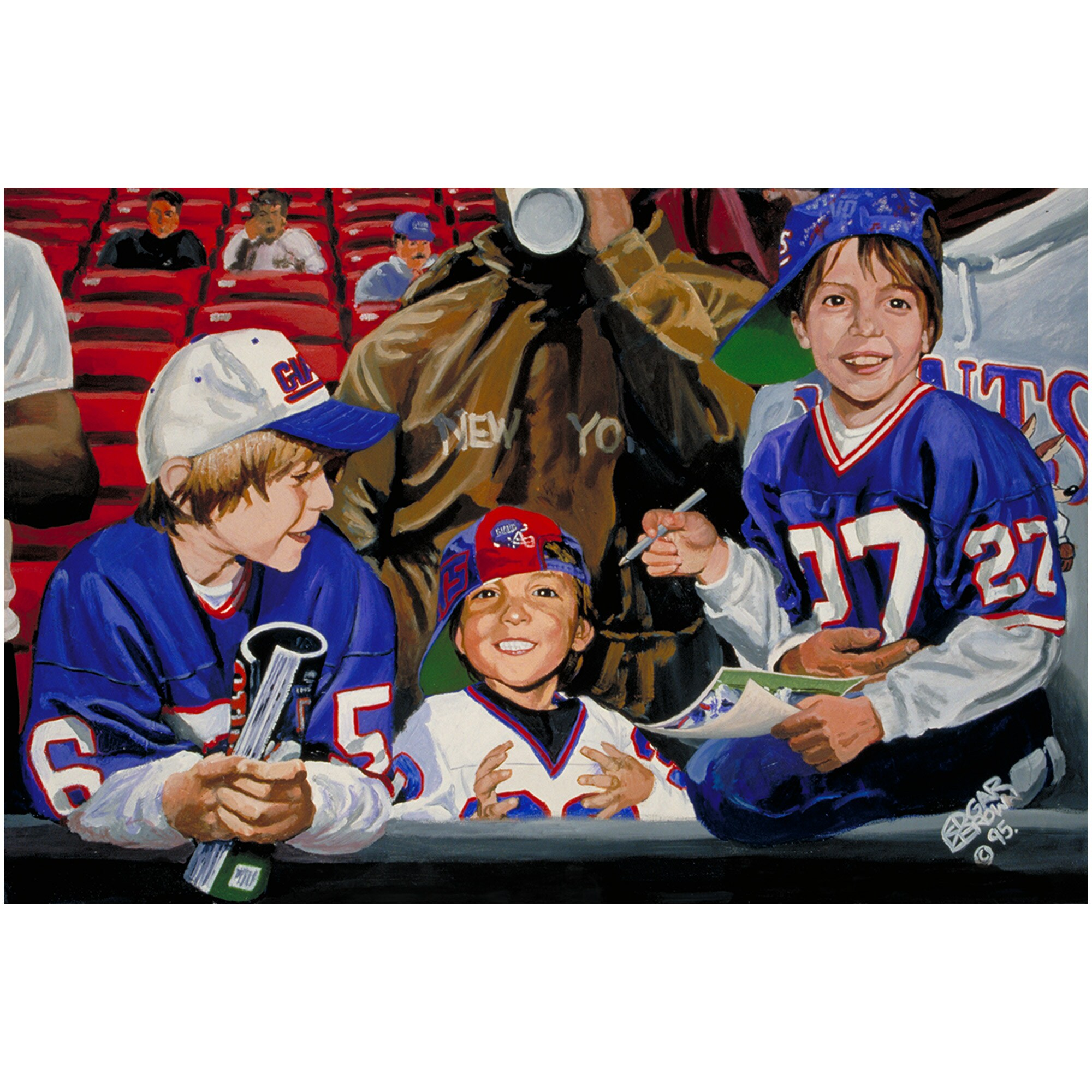 "New York Giants Deacon Jones Foundation 24"" x 36"" A Day at the Game Fine Art Giclée Print"