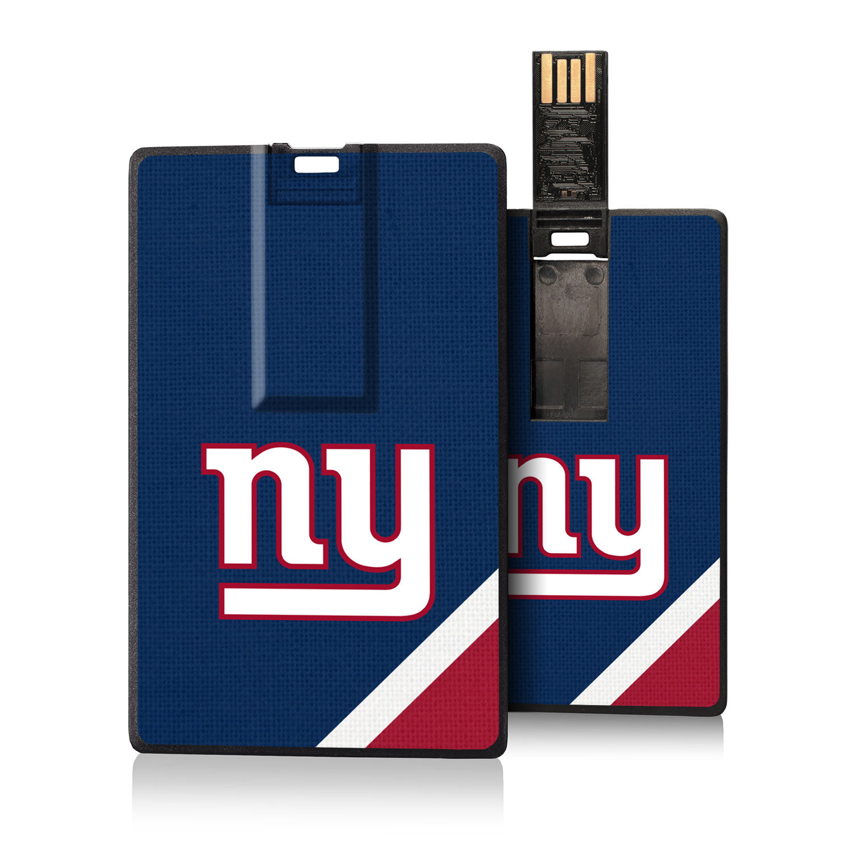 New York Giants Diagonal Stripe Credit Card USB Drive