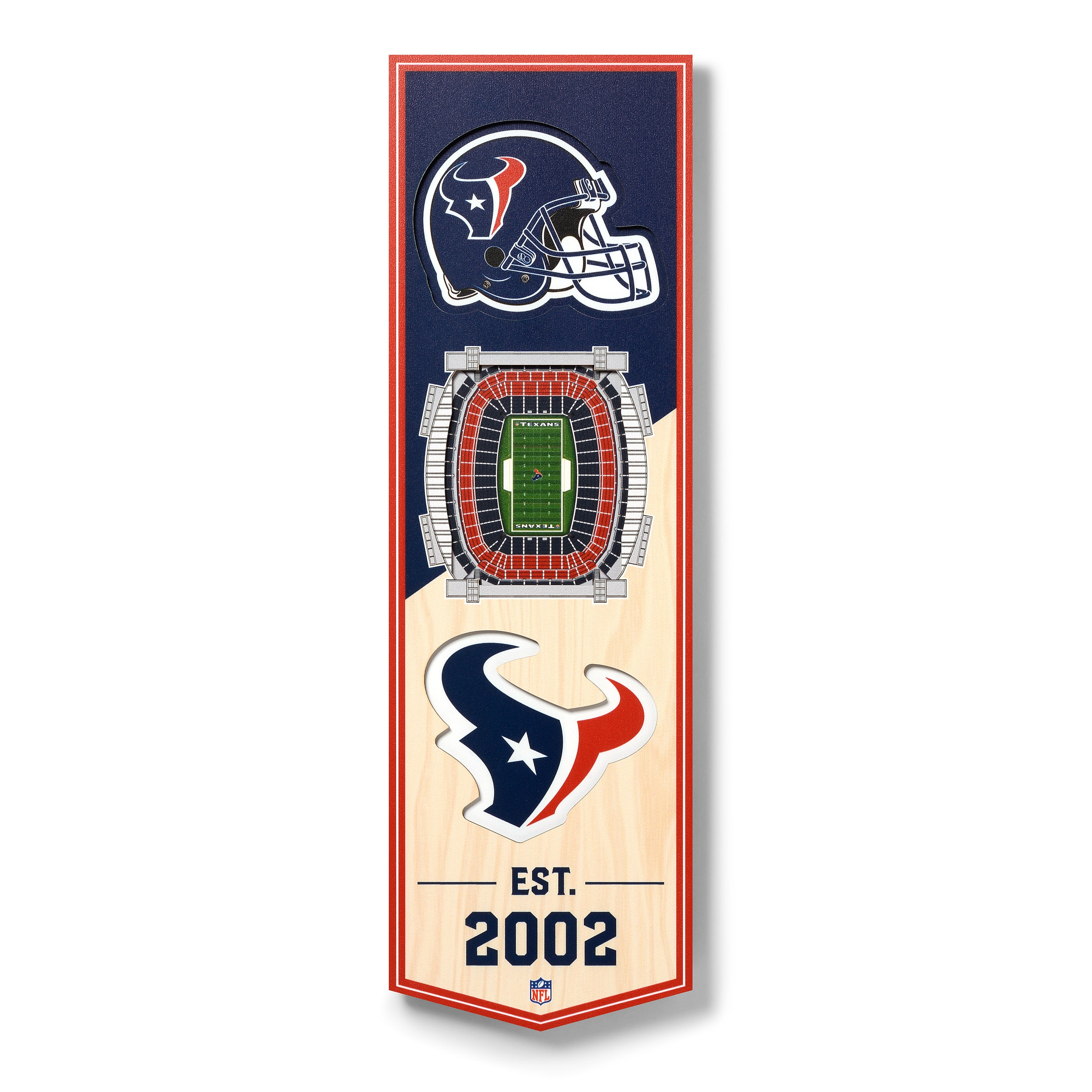 Houston Texans 6'' x 19'' 3D StadiumView Banner