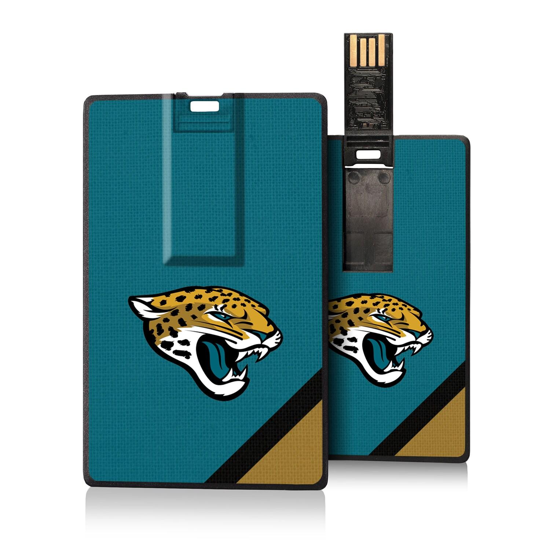 Jacksonville Jaguars Diagonal Stripe Credit Card USB Drive