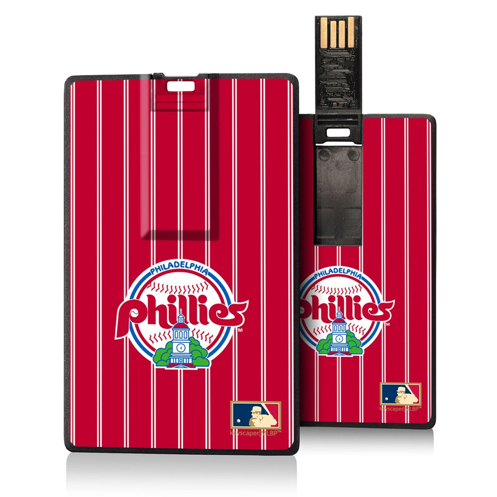 Philadelphia Phillies 1984-1991 Cooperstown Pinstripe Credit Card USB Drive