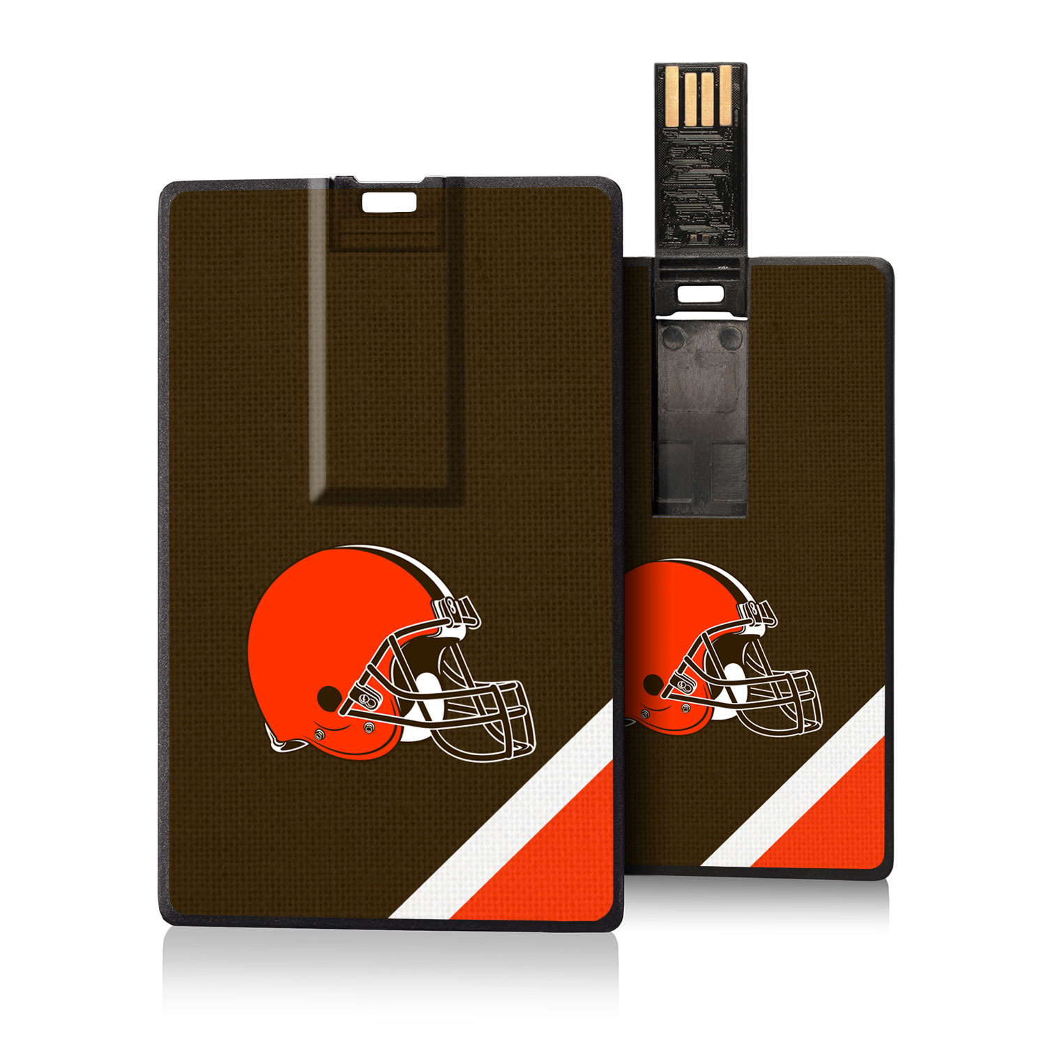 Cleveland Browns Diagonal Stripe Credit Card USB Drive