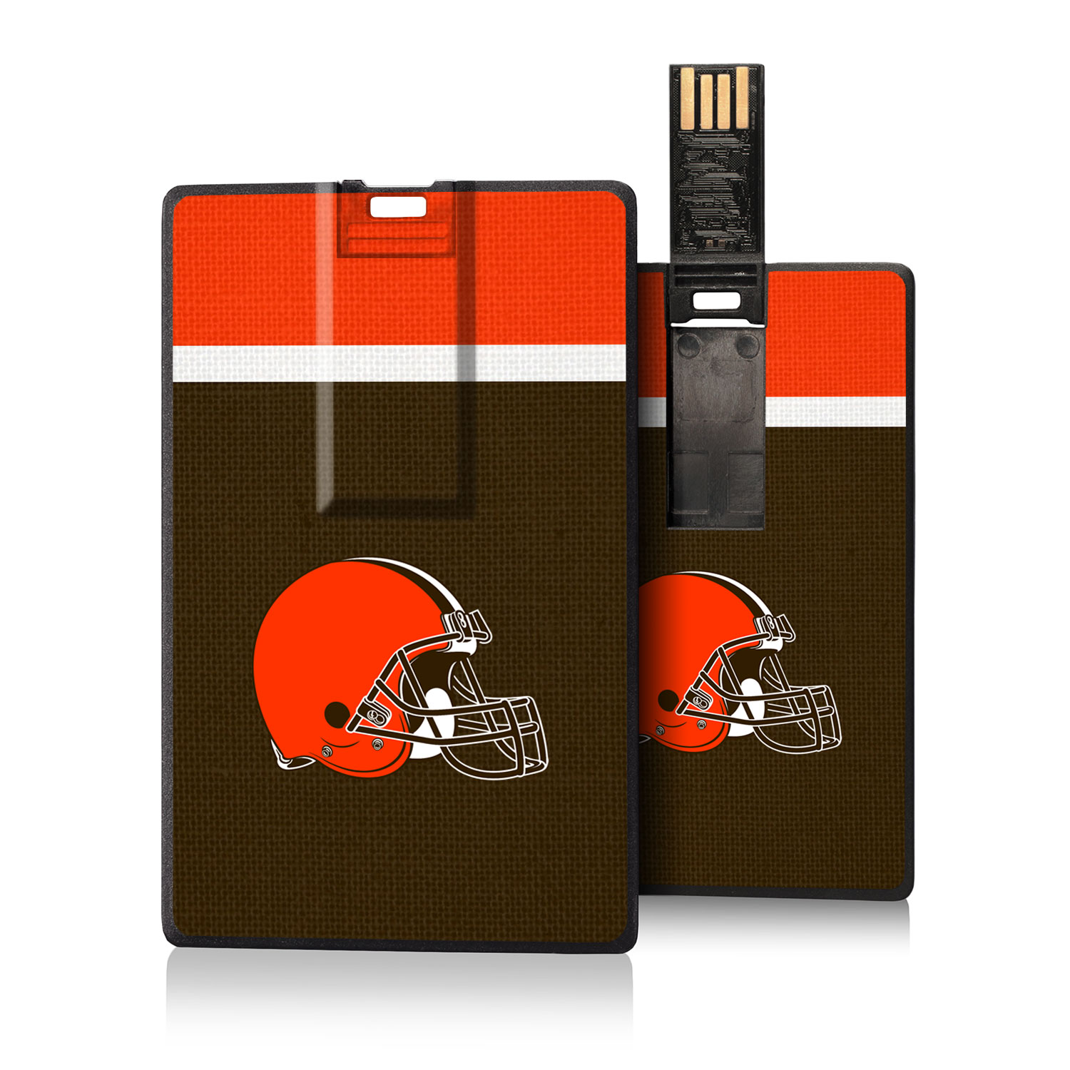 Cleveland Browns Striped Credit Card USB Drive
