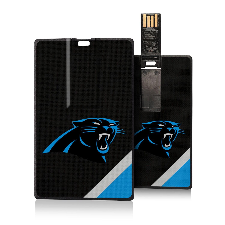 Carolina Panthers Diagonal Stripe Credit Card USB Drive