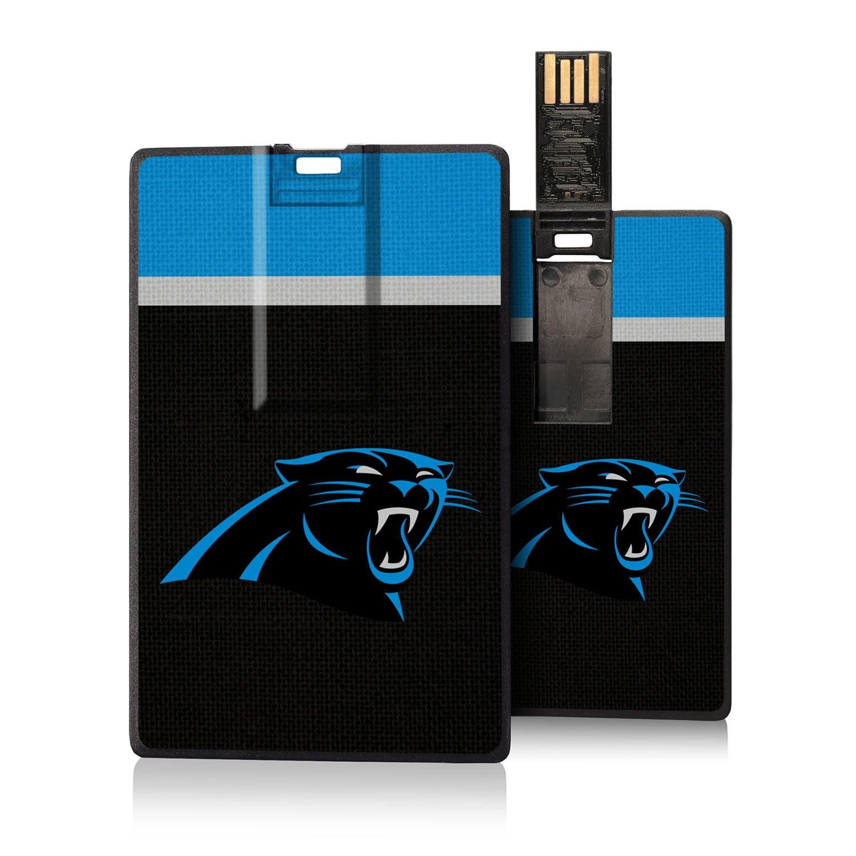 Carolina Panthers Striped Credit Card USB Drive