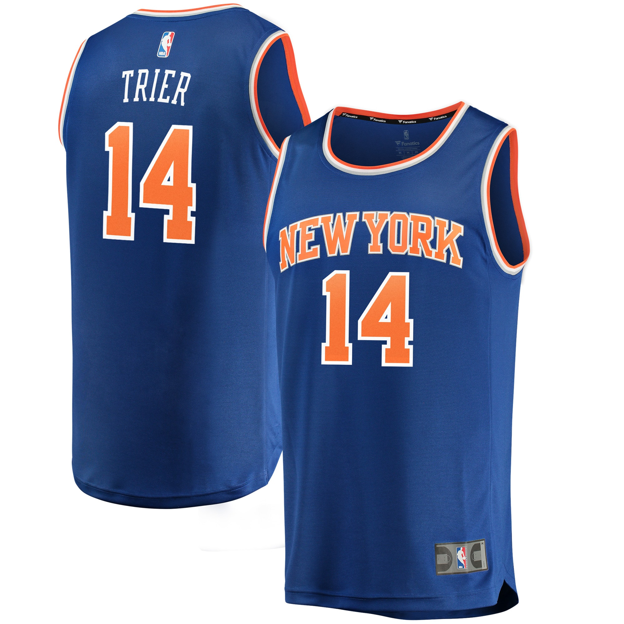 Allonzo Trier New York Knicks Fanatics Branded Fast Break Replica Jersey - Icon Edition - Blue