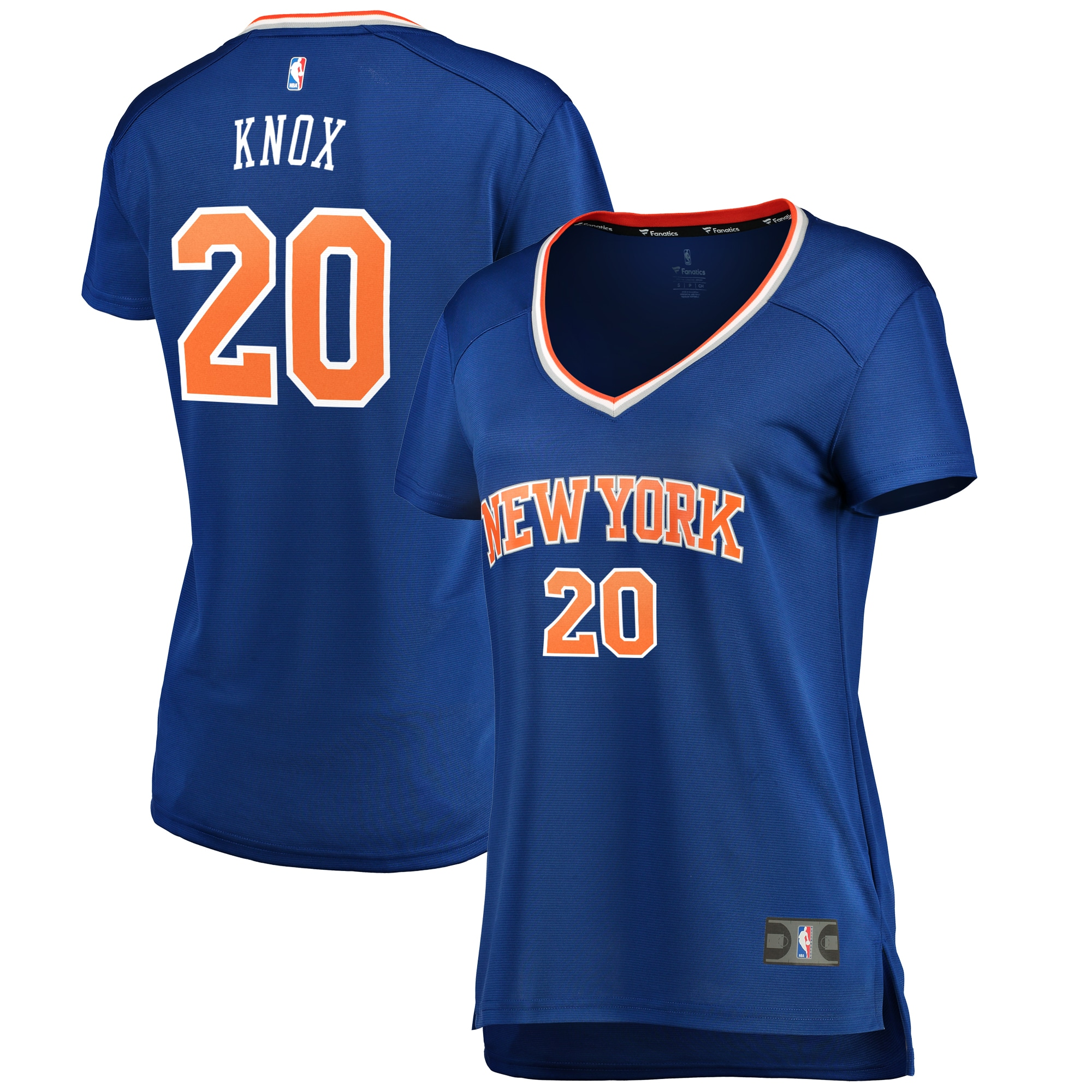 Kevin Knox New York Knicks Fanatics Branded Women's Fast Break Replica Jersey Blue - Icon Edition