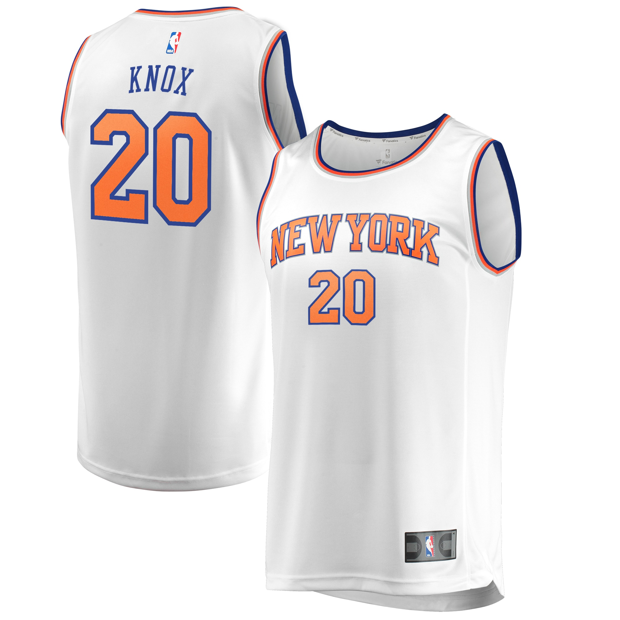 Kevin Knox New York Knicks Fanatics Branded Fast Break Jersey - Association Edition - White