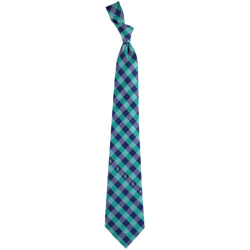 Seattle Mariners Woven Checkered Tie