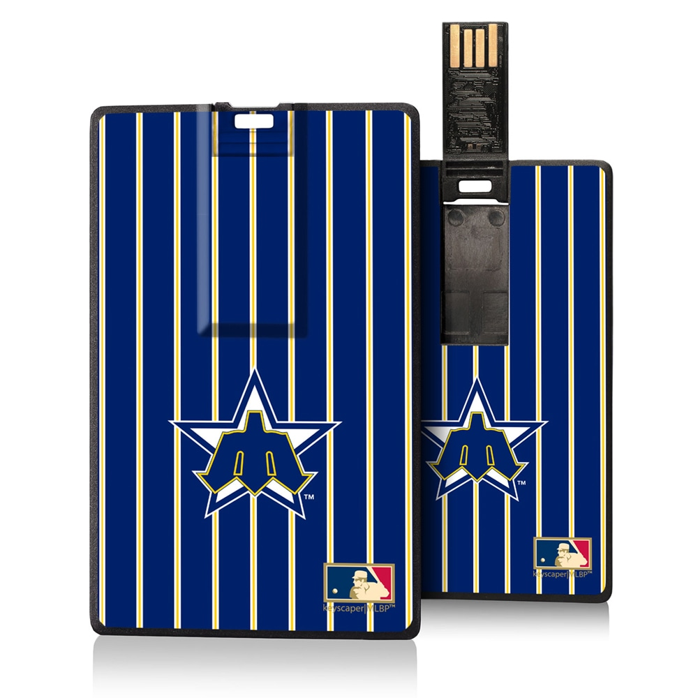 Seattle Mariners 1981-1986 Cooperstown Pinstripe Credit Card USB Drive