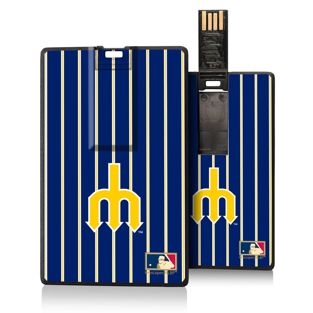 Seattle Mariners 1977-1980 Cooperstown Pinstripe Credit Card USB Drive
