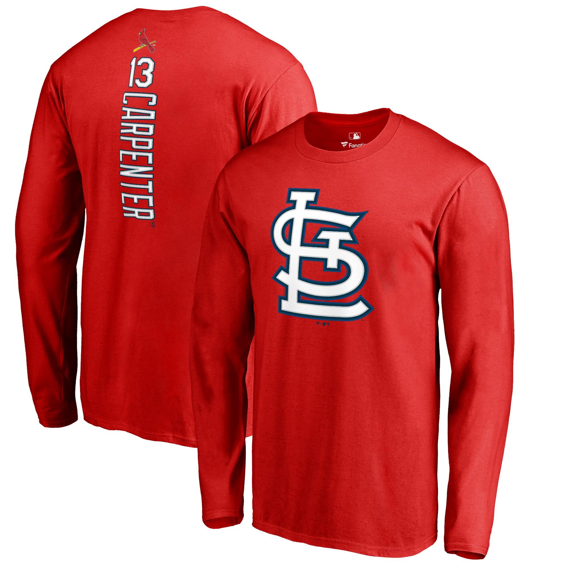 Matt Carpenter St. Louis Cardinals Backer Long Sleeve T-Shirt - Red