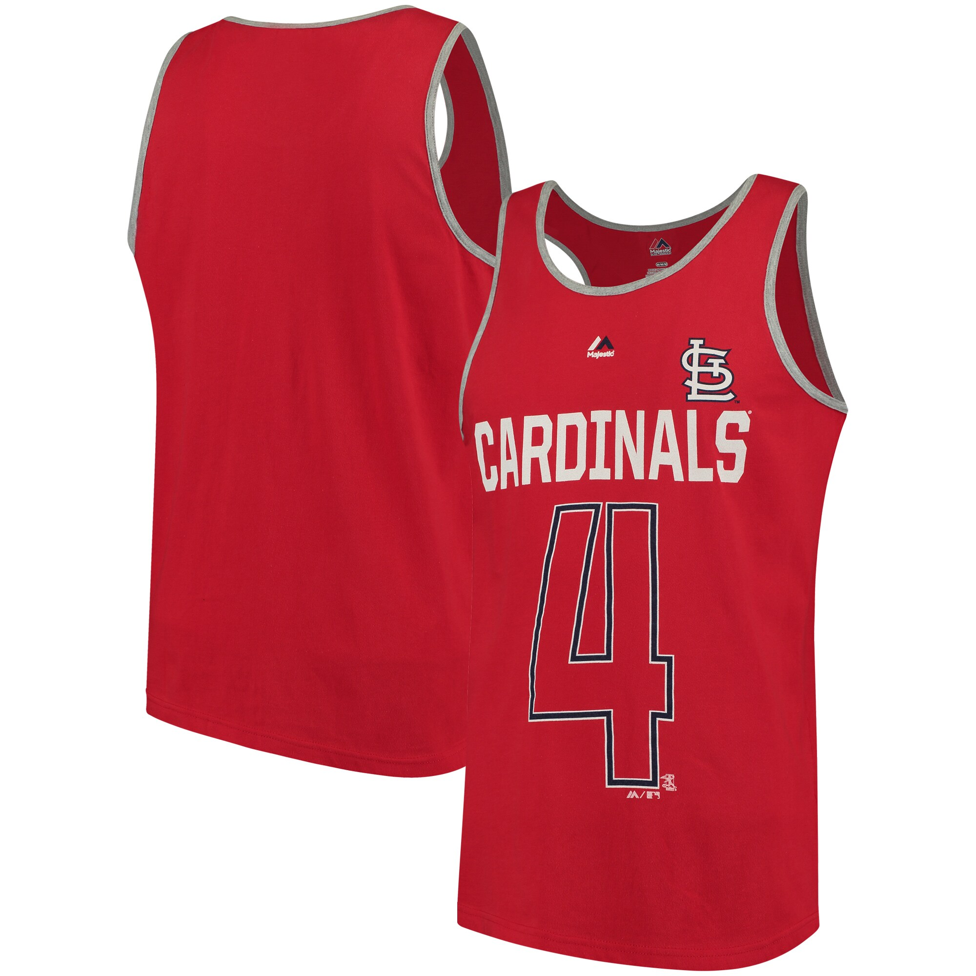 Yadier Molina St. Louis Cardinals Majestic Catch The Dream Tank Top - Red