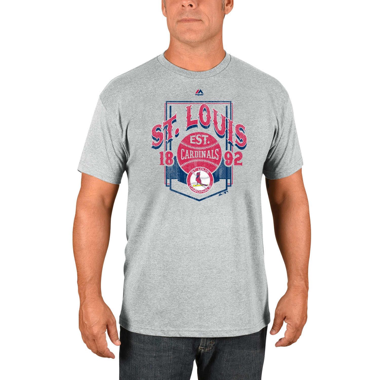 St. Louis Cardinals Majestic Vintage Style T-Shirt - Gray
