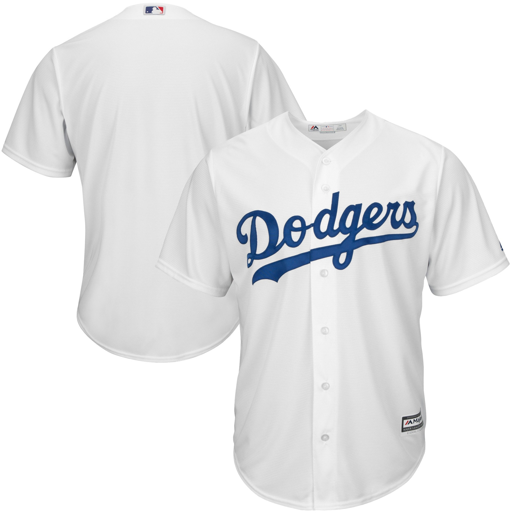 Los Angeles Dodgers Youth Home Replica Blank Team Jersey - White