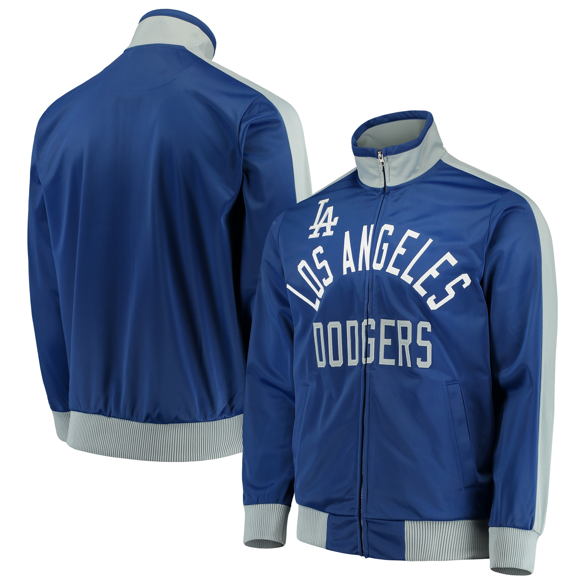 Los Angeles Dodgers G-III Sports by Carl Banks Final Four Full-Zip Track Jacket - Royal