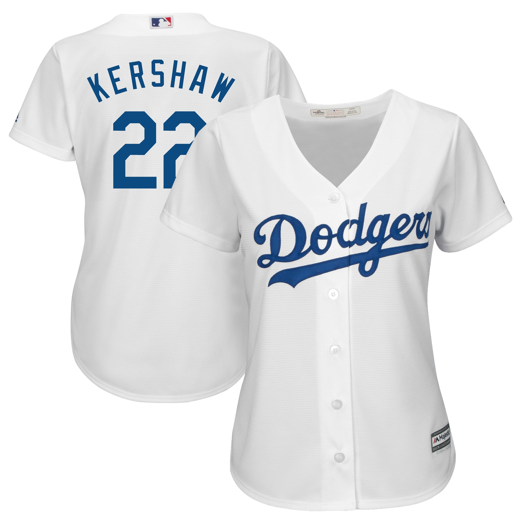 Clayton Kershaw Los Angeles Dodgers Majestic Women's Cool Base Player Jersey - White