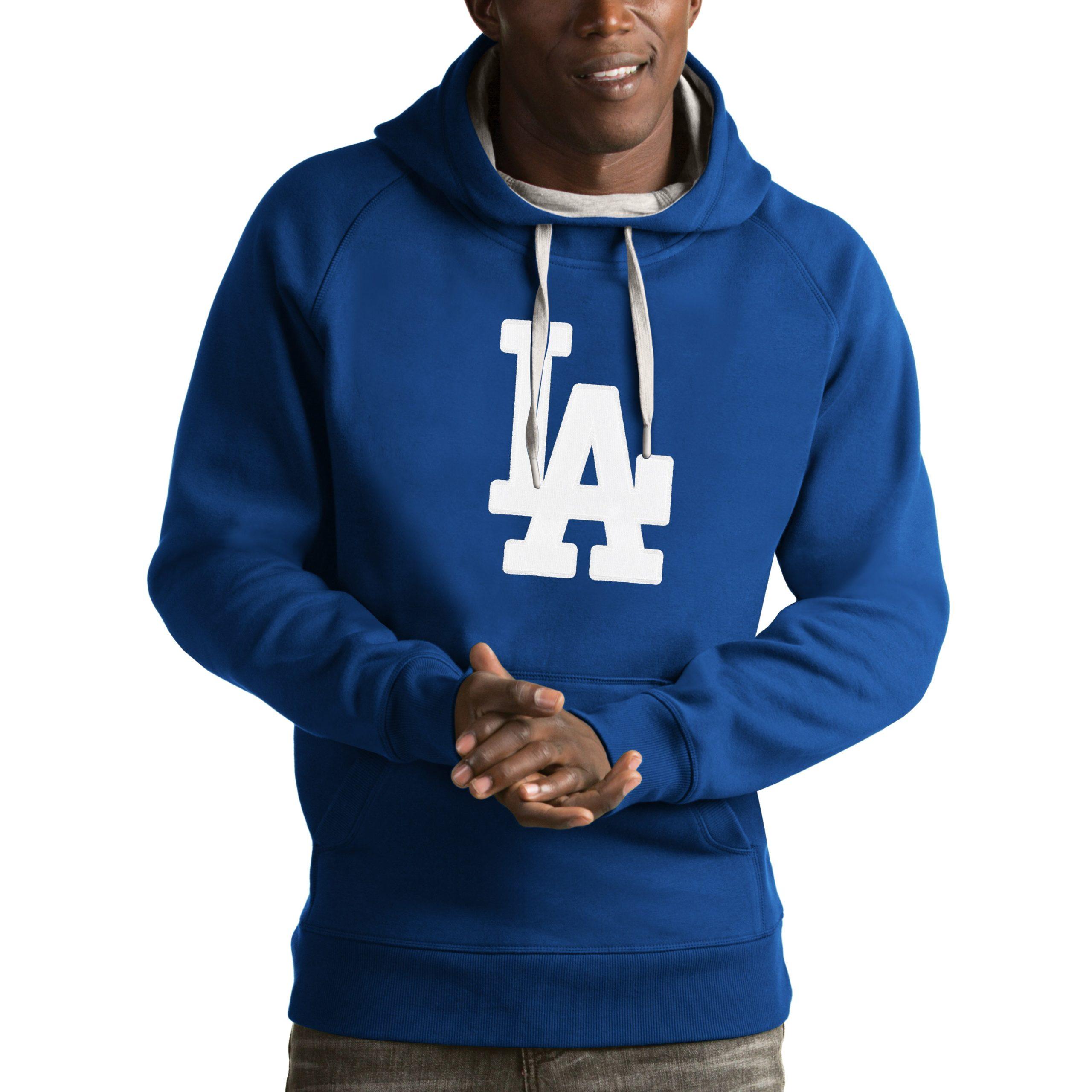 Los Angeles Dodgers Antigua Victory Pullover Hoodie - Royal