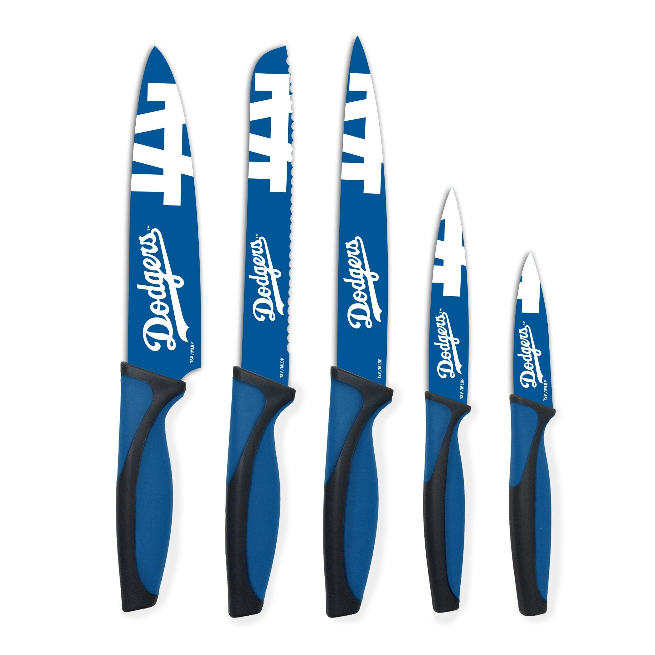 Los Angeles Dodgers Woodrow 5-Piece Stainless Steel Cutlery Knife Set