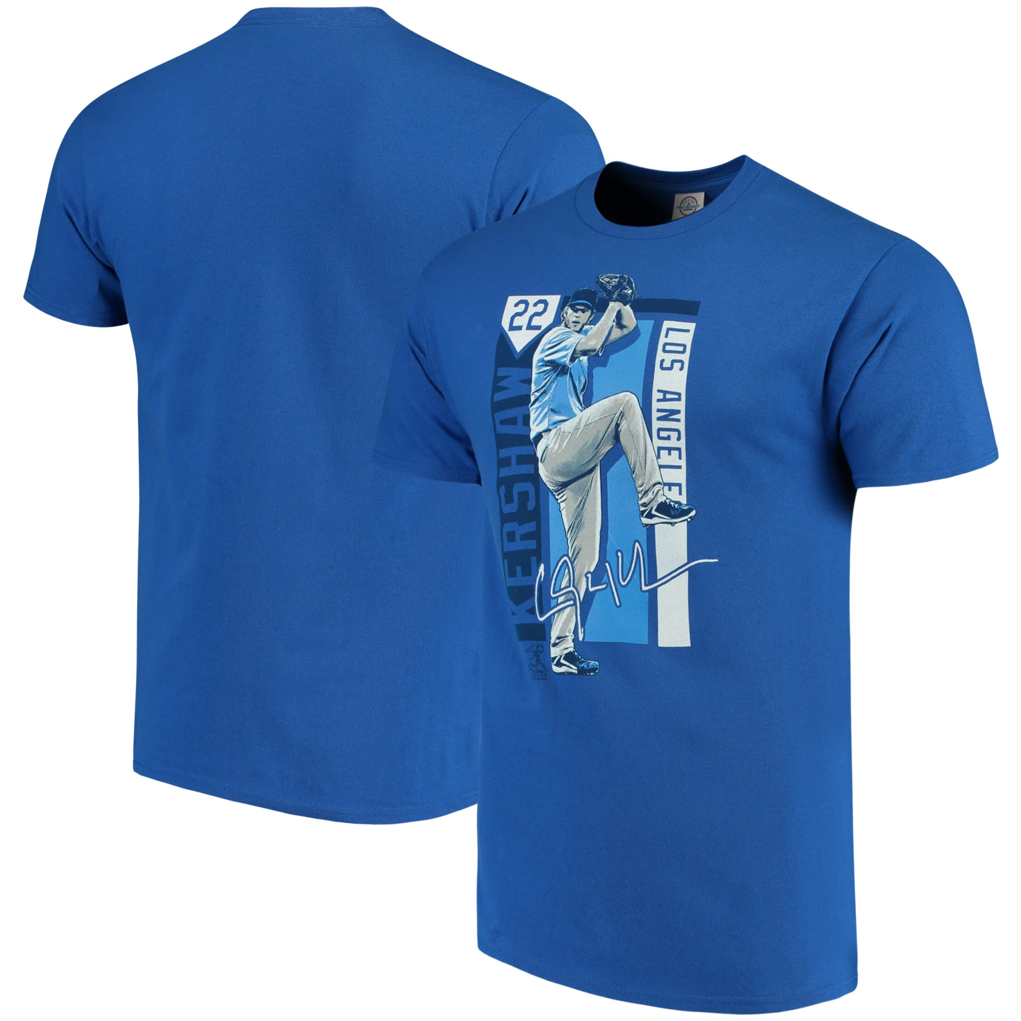 Clayton Kershaw Los Angeles Dodgers Color Block Series Player Graphic T-Shirt - Royal