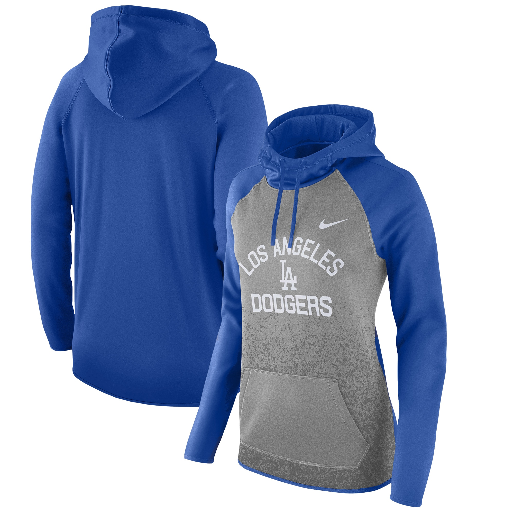 Los Angeles Dodgers Nike Women's All-Time Therma Performance Pullover Hoodie - Dark Gray