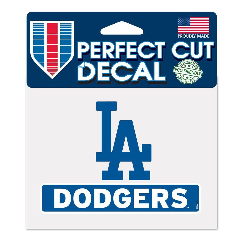"Los Angeles Dodgers WinCraft 4"" x 5"" Perfect Cut Logo Slogan Decal"