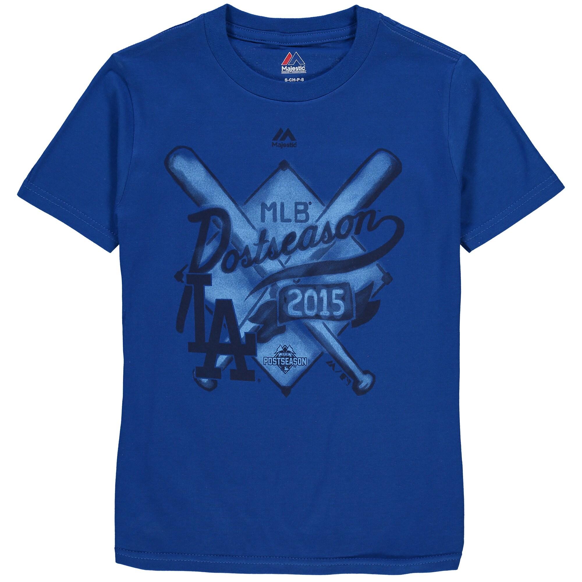Los Angeles Dodgers Majestic Youth 2015 Postseason Team Ambition T-Shirt - Royal