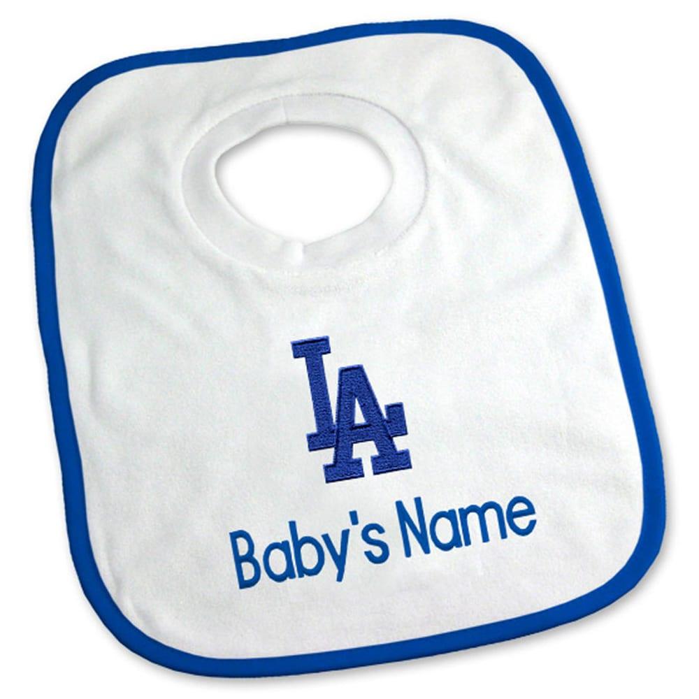 Los Angeles Dodgers Newborn & Infant Personalized Bib - White