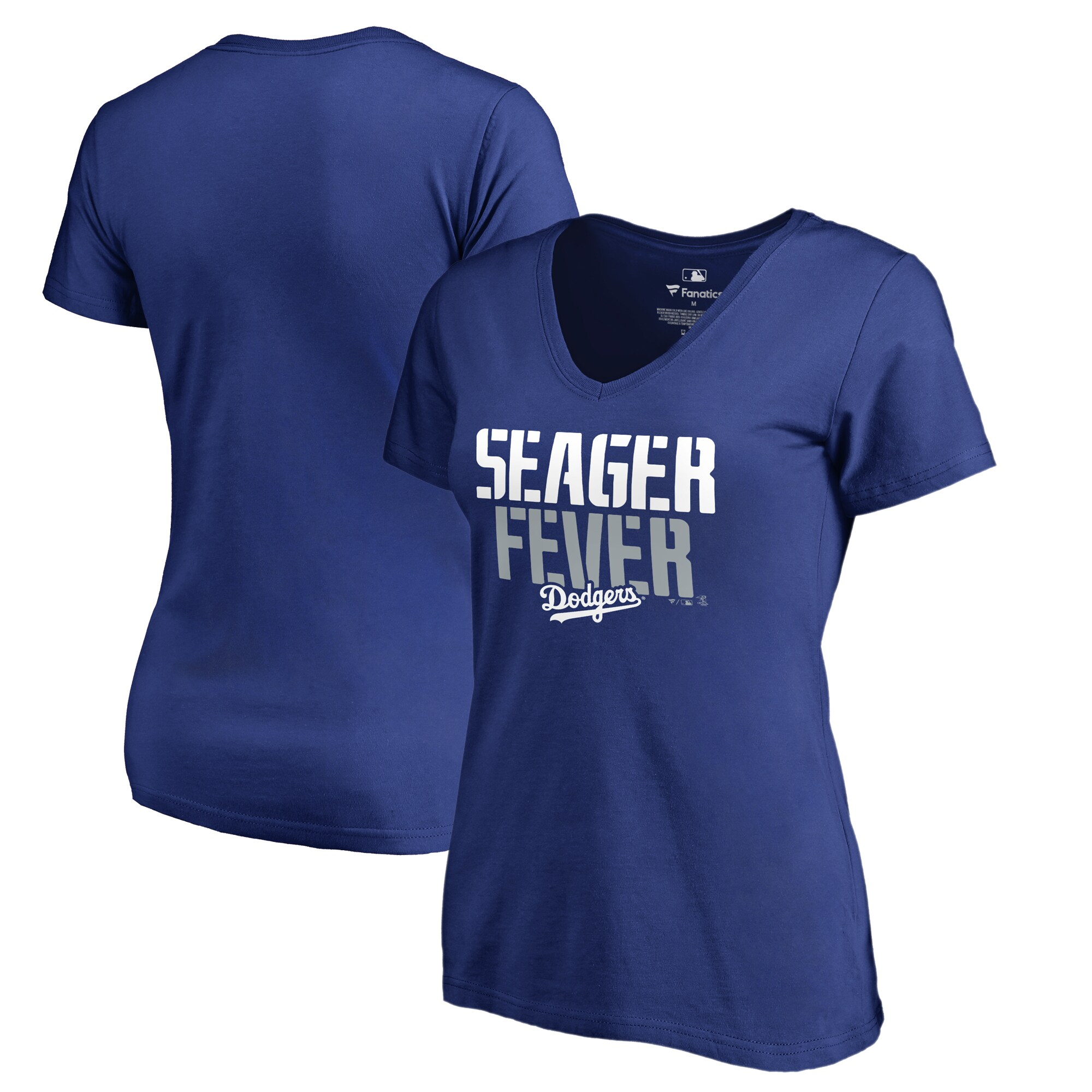 Corey Seager Los Angeles Dodgers Fanatics Branded Women's Player Hometown Collection V-Neck T-Shirt - Royal