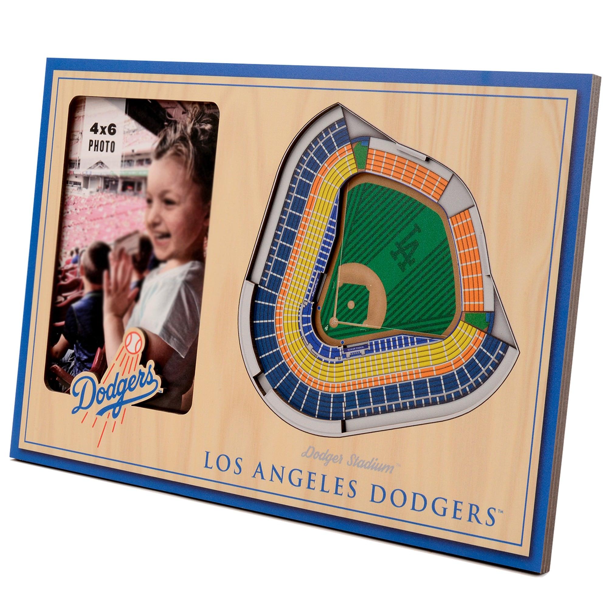 Los Angeles Dodgers 3D StadiumViews Picture Frame - Brown
