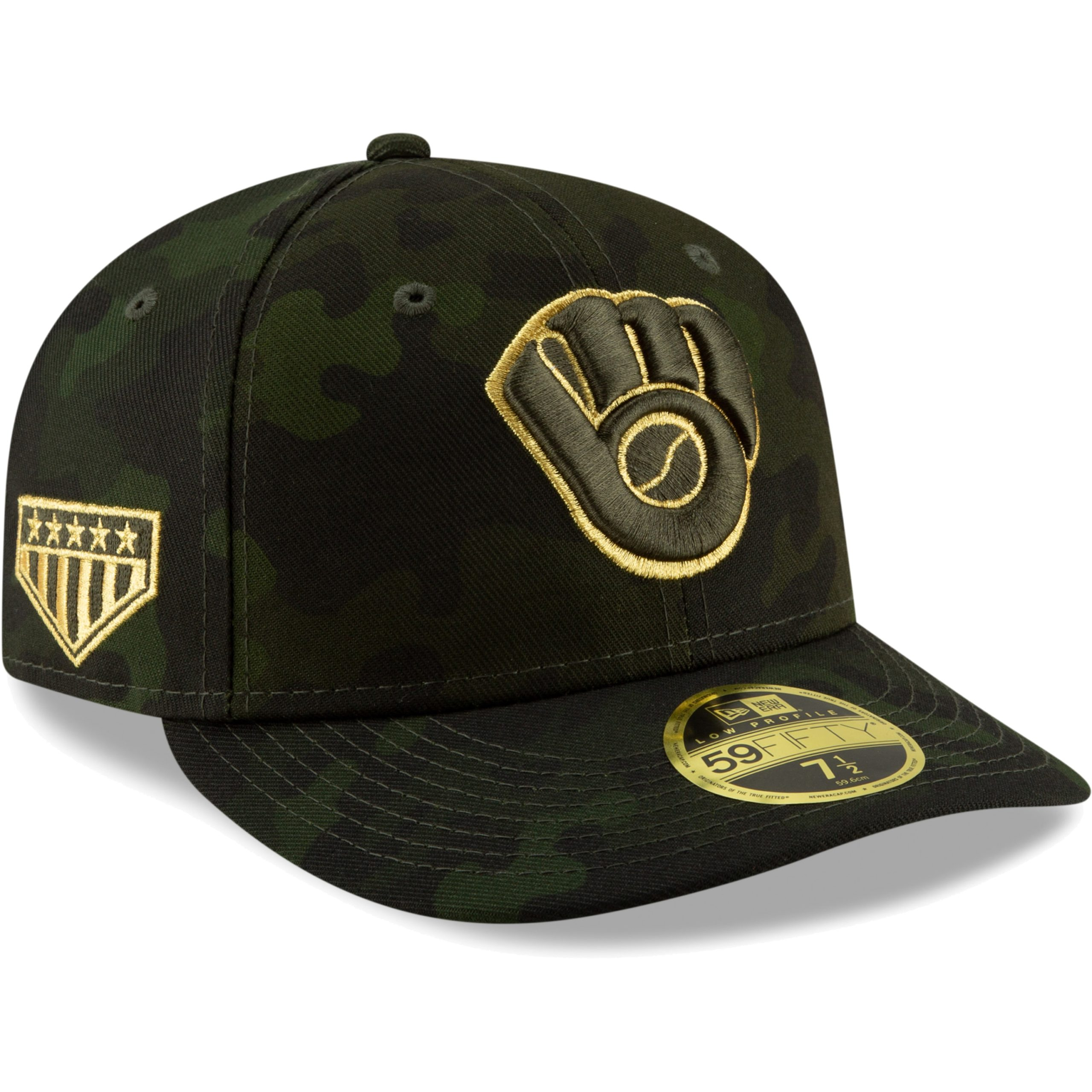 Milwaukee Brewers New Era MLB Armed Forces Day On-Field Low Profile 59FIFTY Fitted Hat - Camo
