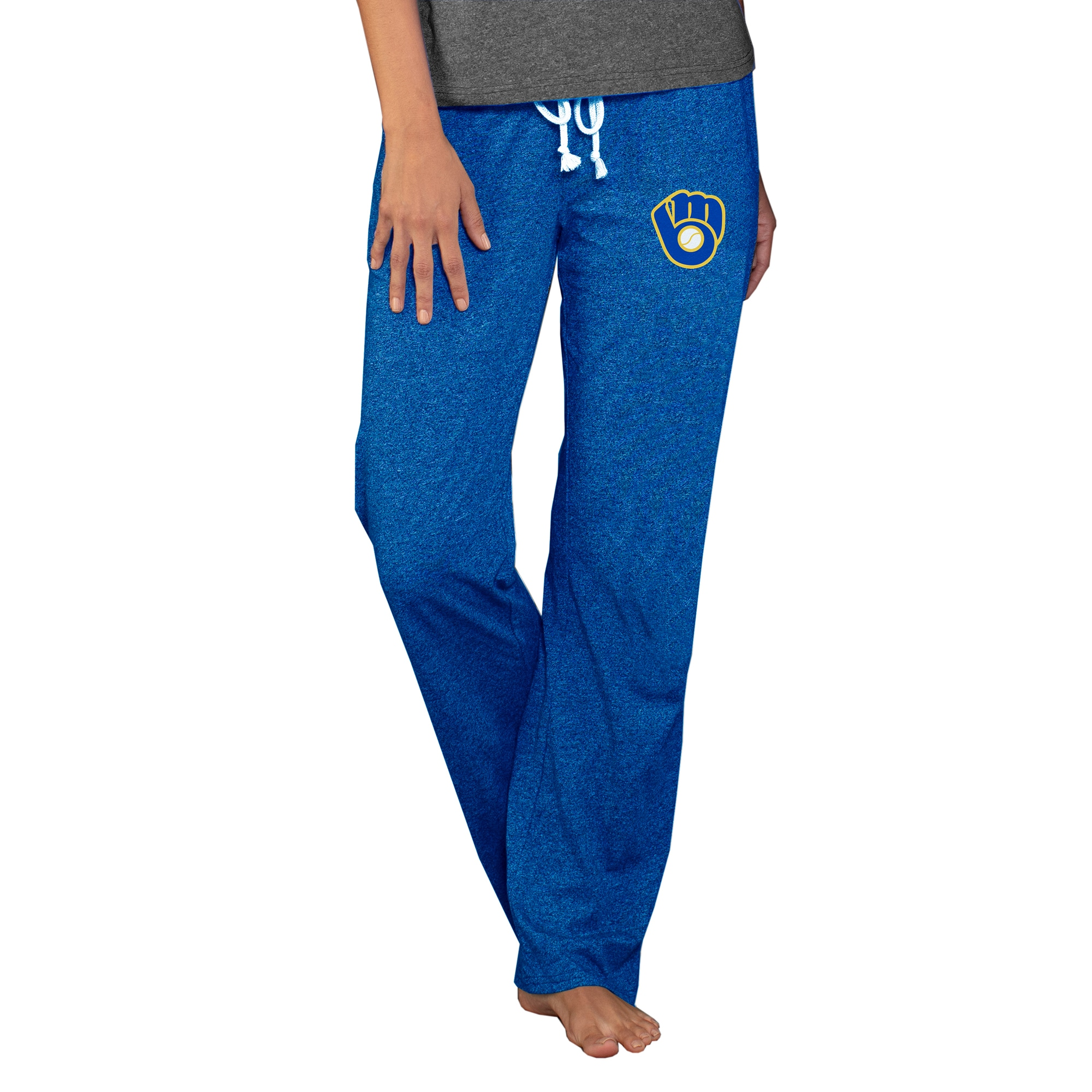Milwaukee Brewers Concepts Sport Women's Cooperstown Quest Knit Pants - Royal