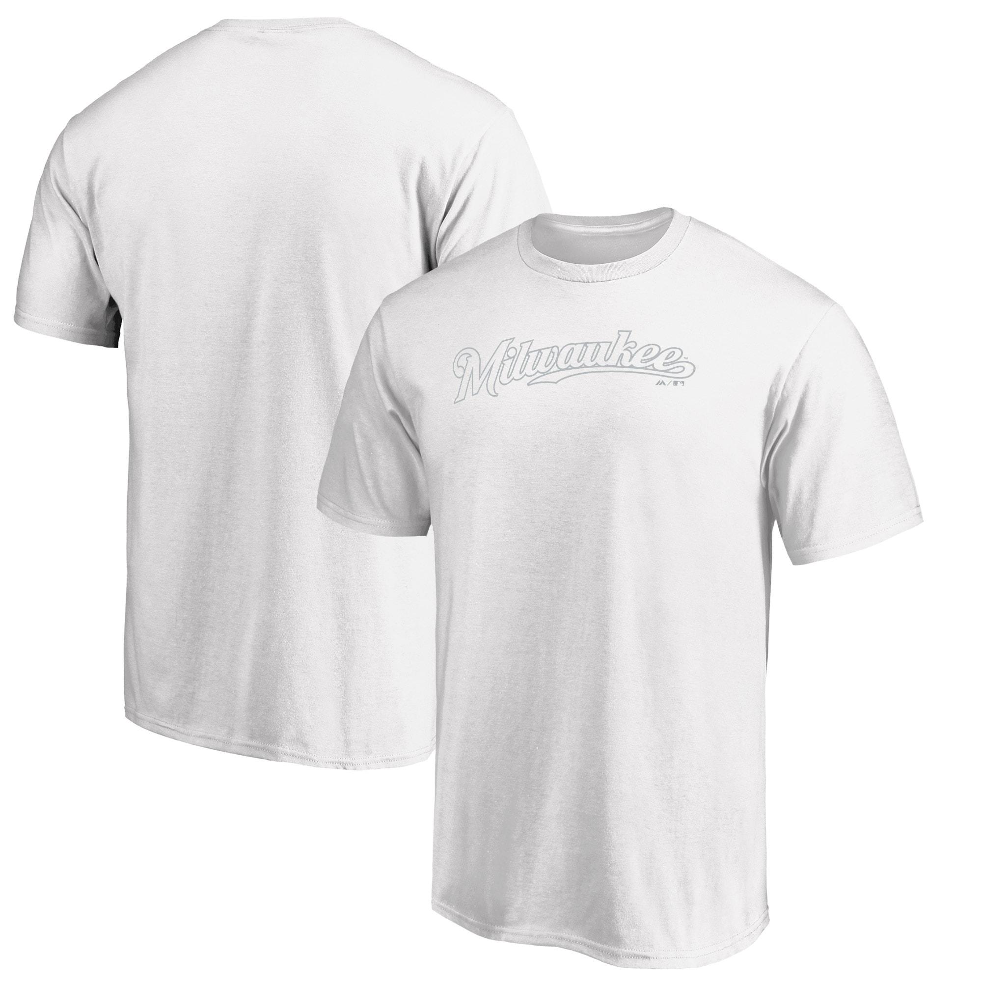 Milwaukee Brewers Majestic 2019 Players' Weekend Wordmark T-Shirt - White