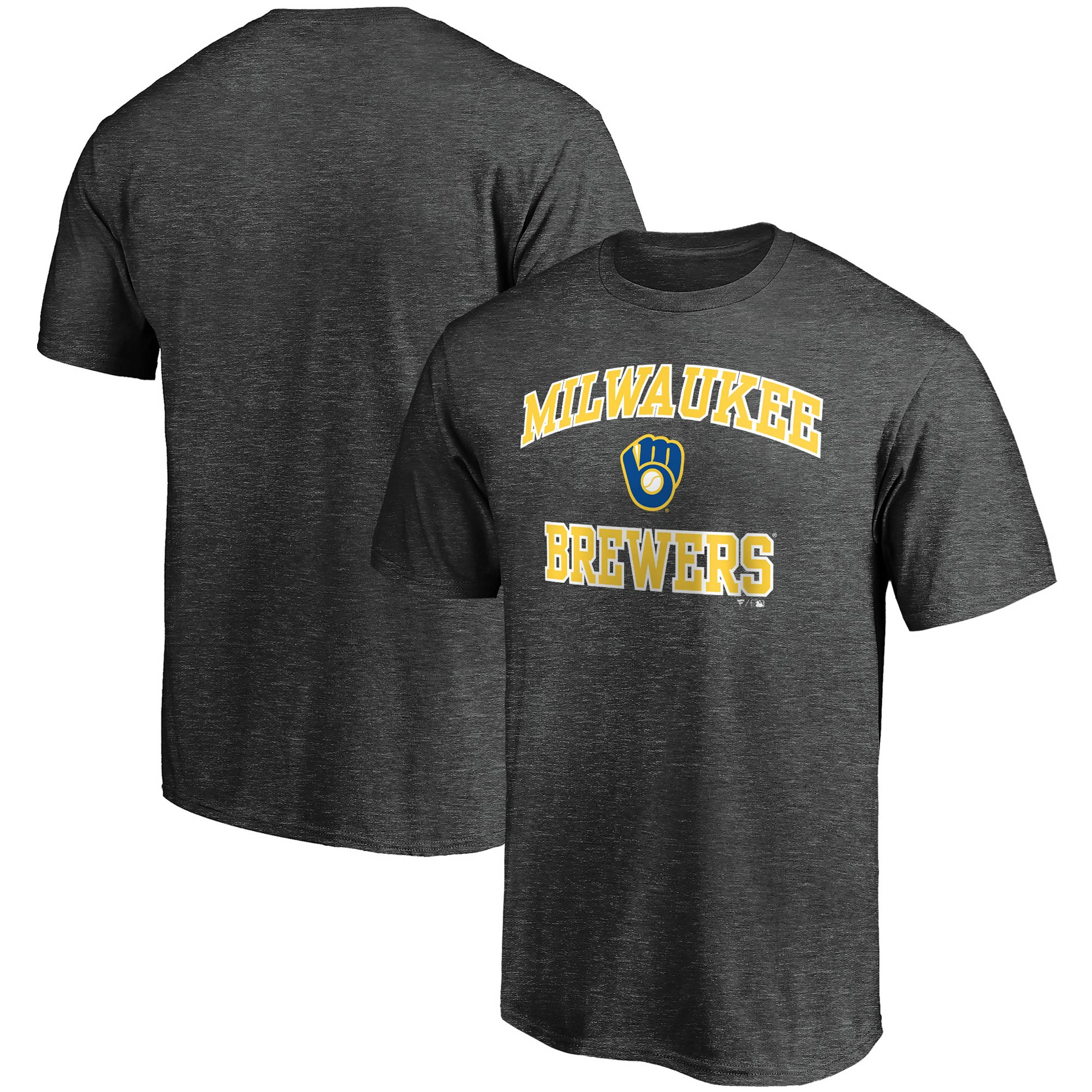 Milwaukee Brewers Fanatics Branded Heart & Soul T-Shirt - Charcoal